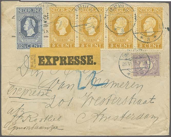 waar postzegel op een enveloppe