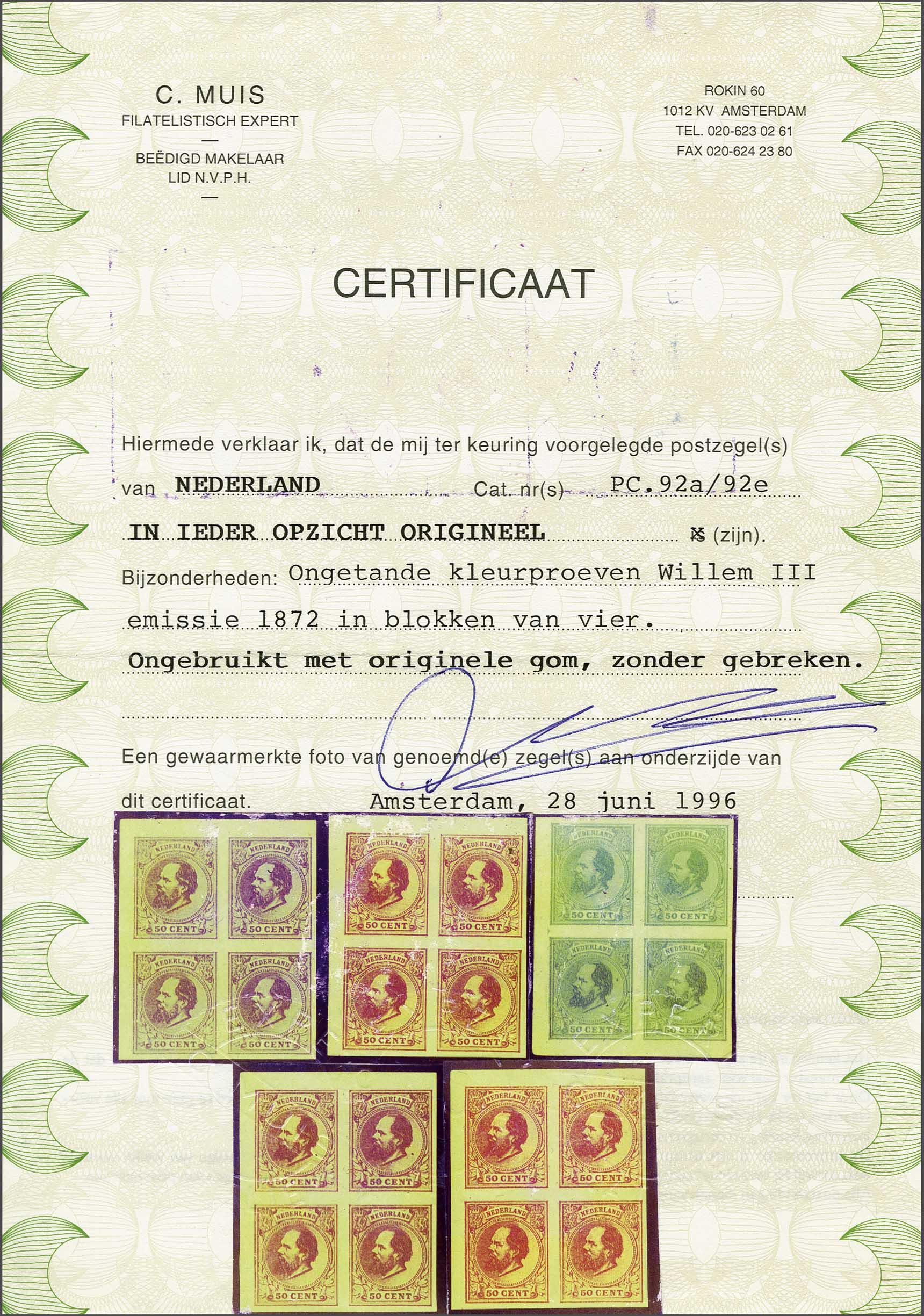 Lot 267 - Netherlands and Former Territories NL 1872 King William III -  Corinphila veilingen Auction 233: General sale