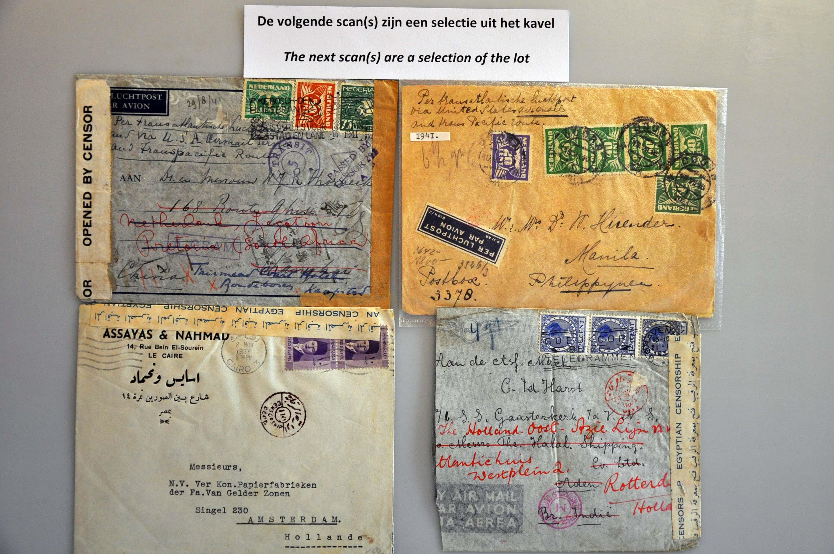 Lot 1024 - Topics and Miscellaneous world war II -  Corinphila veilingen Auction 235: Postal History WW2 - The Stefan Drukker Collection
