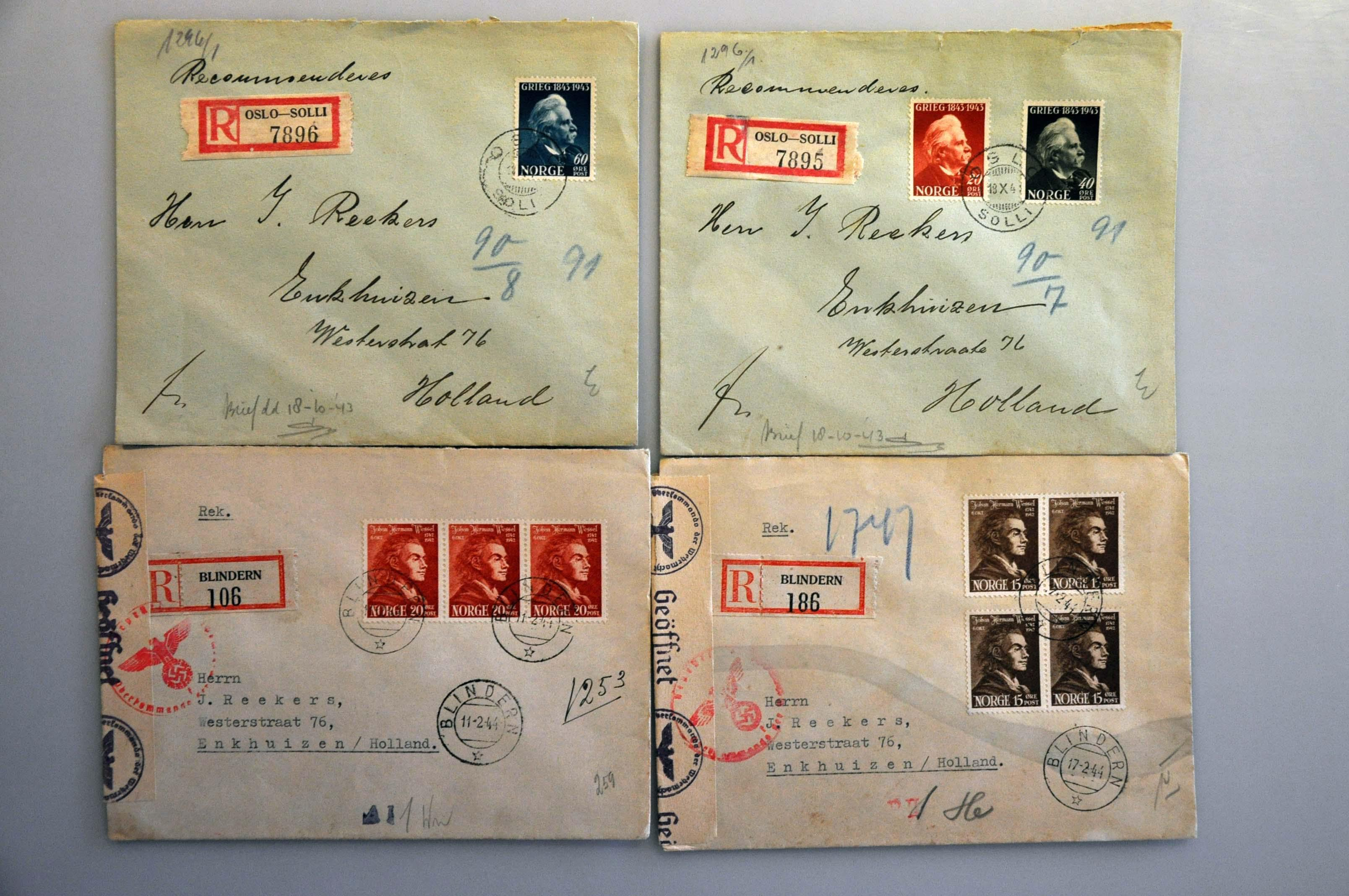 Lot 1019 - Topics and Miscellaneous world war ii -  Corinphila veilingen Auction 235: Postal History WW2 - The Stefan Drukker Collection