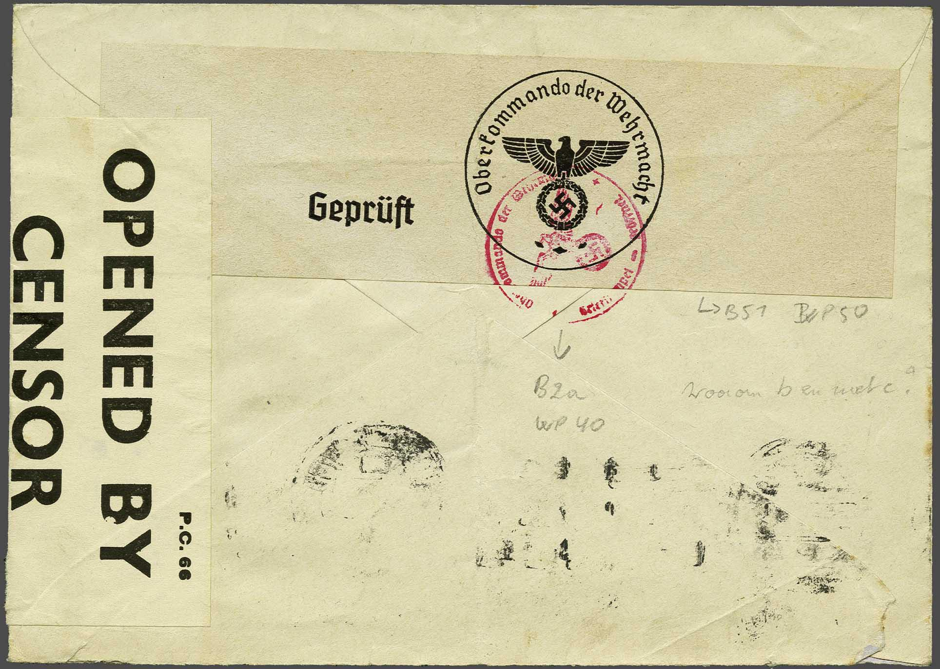 Lot 1007 - Topics and Miscellaneous world war II -  Corinphila veilingen Auction 235: Postal History WW2 - The Stefan Drukker Collection