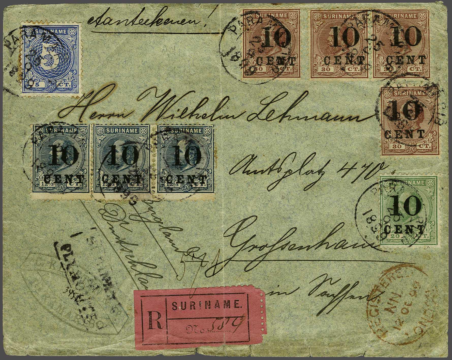Lot 92 - Netherlands and Former Territories surinam -  Corinphila veilingen Auction 236: Netherlands Colonies - The J.F. de Beaufort collection