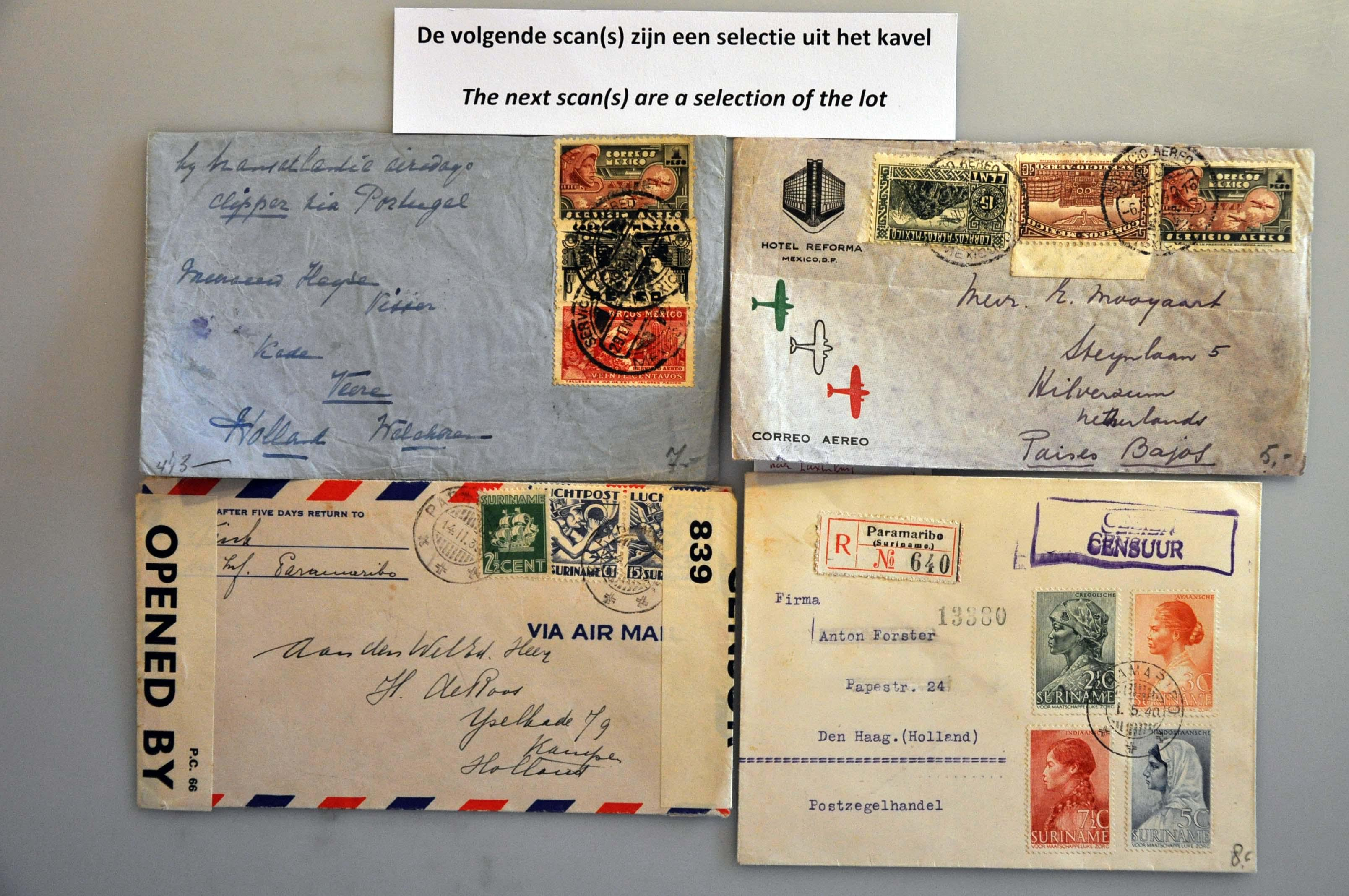 Lot 1023 - Topics and Miscellaneous world war II -  Corinphila veilingen Auction 235: Postal History WW2 - The Stefan Drukker Collection