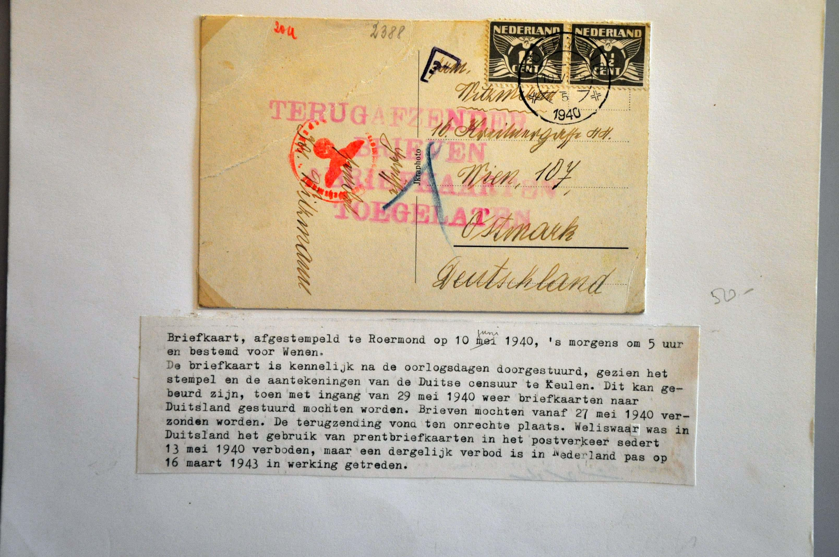 Lot 1008 - Topics and Miscellaneous world war II -  Corinphila veilingen Auction 235: Postal History WW2 - The Stefan Drukker Collection