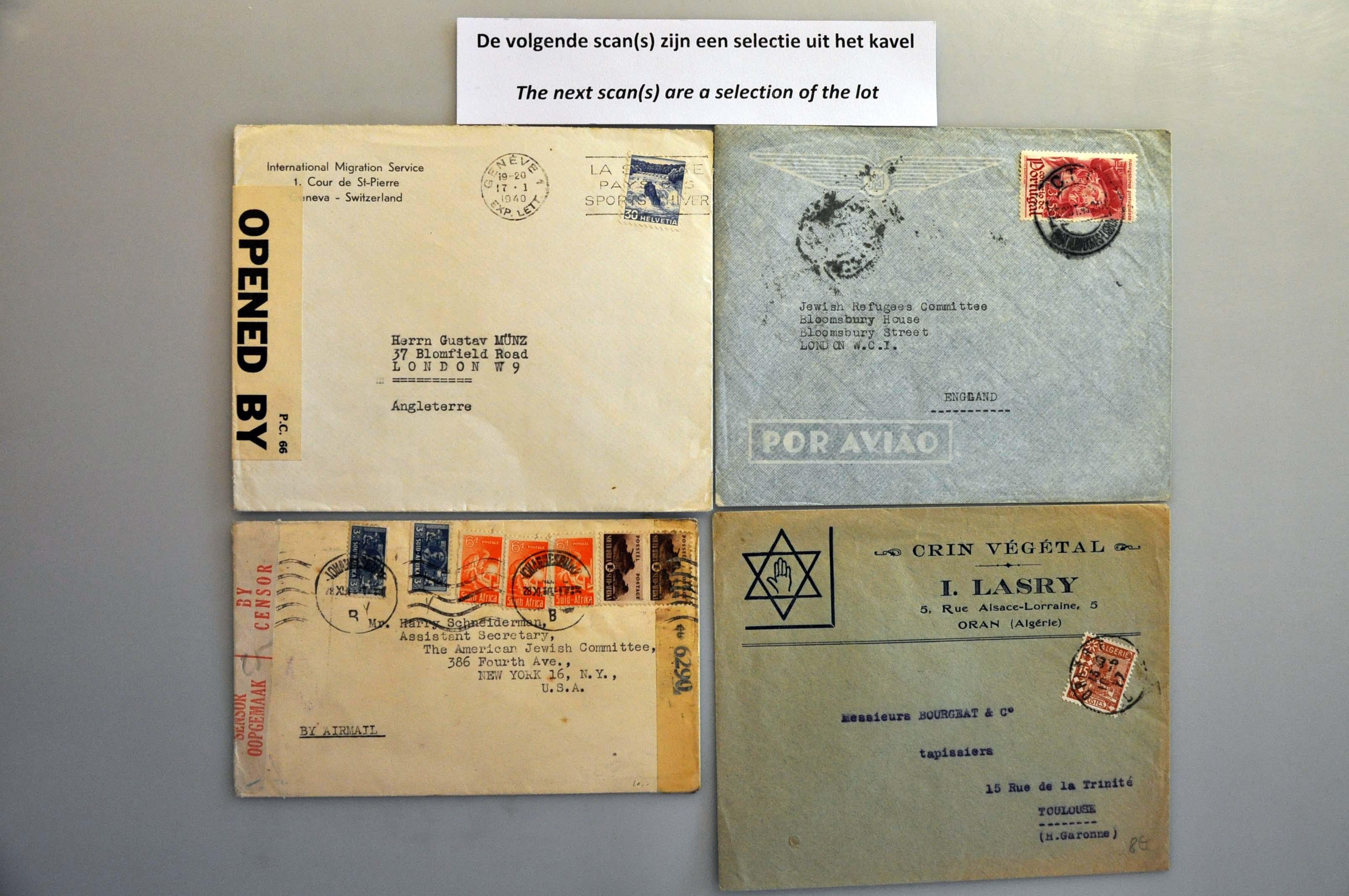 Lot 1001 - Topics and Miscellaneous world war II -  Corinphila veilingen Auction 235: Postal History WW2 - The Stefan Drukker Collection