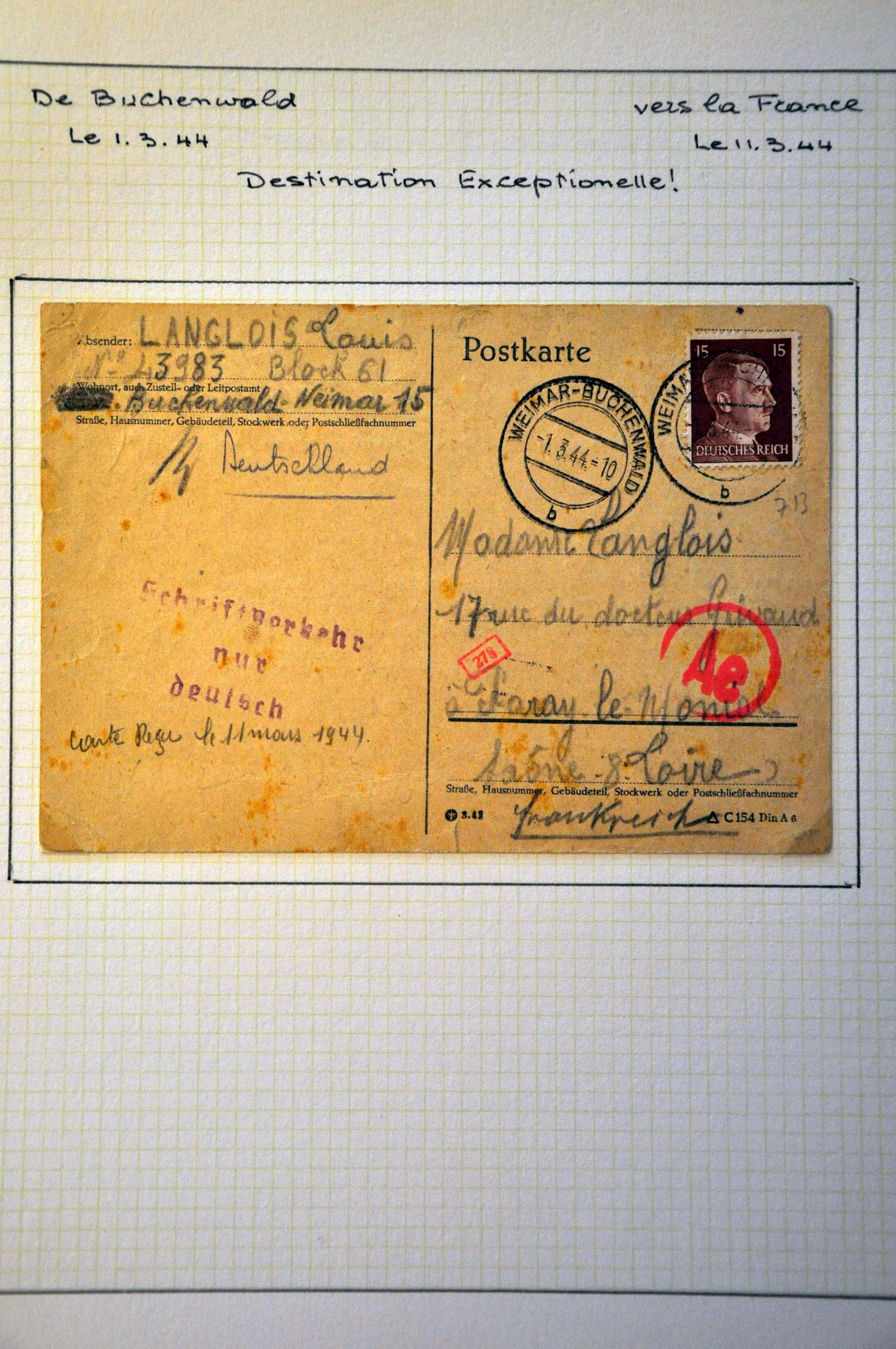 Lot 1002 - Topics and Miscellaneous world war ii -  Corinphila veilingen Auction 235: Postal History WW2 - The Stefan Drukker Collection