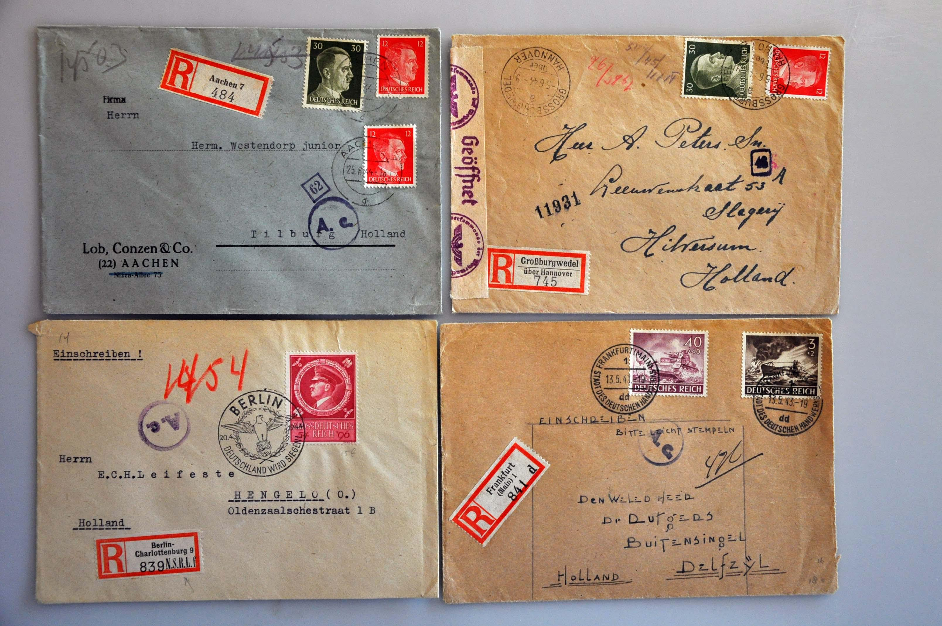 Lot 1015 - Topics and Miscellaneous world war II -  Corinphila veilingen Auction 235: Postal History WW2 - The Stefan Drukker Collection