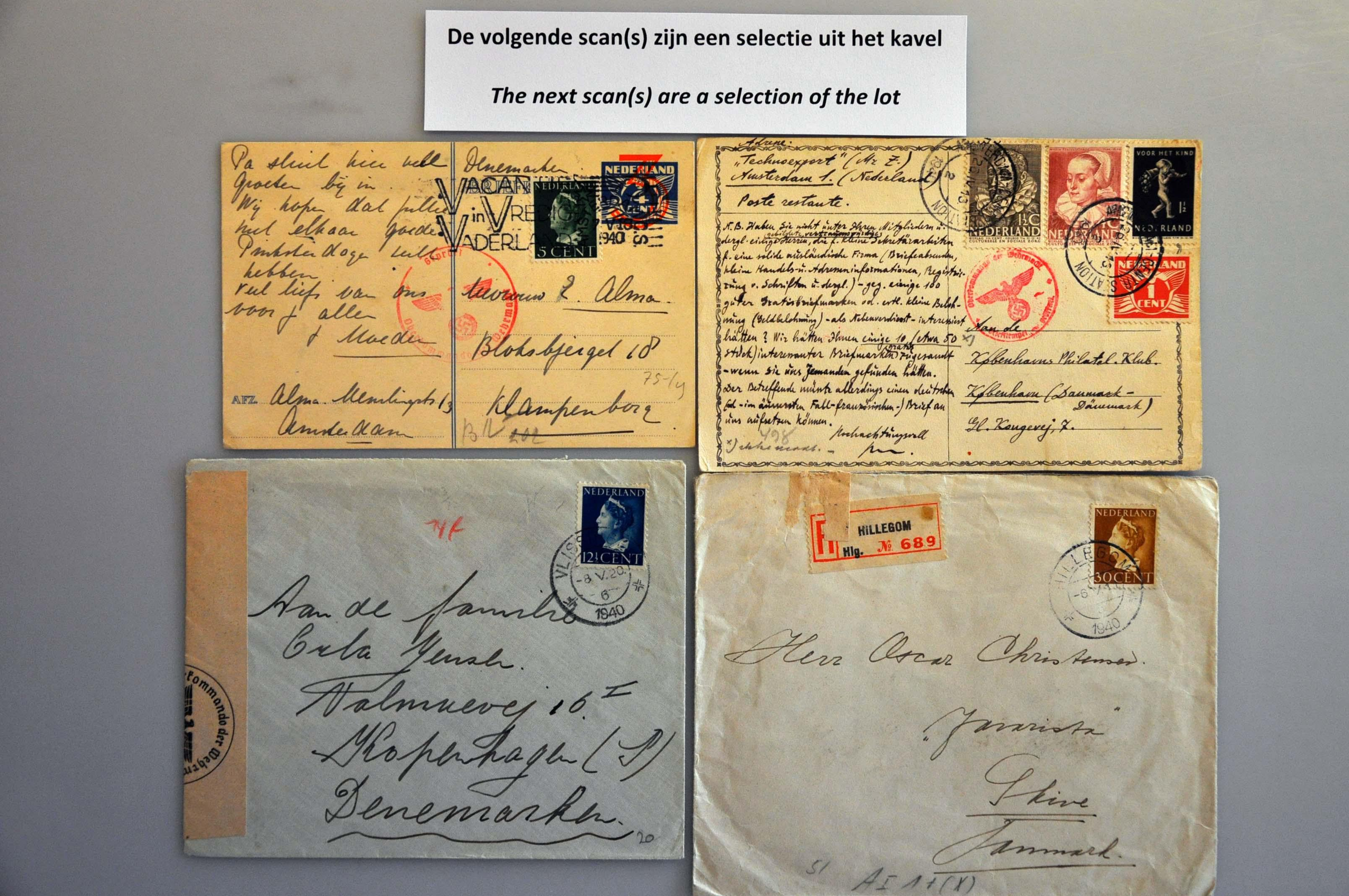 Lot 1014 - Topics and Miscellaneous world war II -  Corinphila veilingen Auction 235: Postal History WW2 - The Stefan Drukker Collection