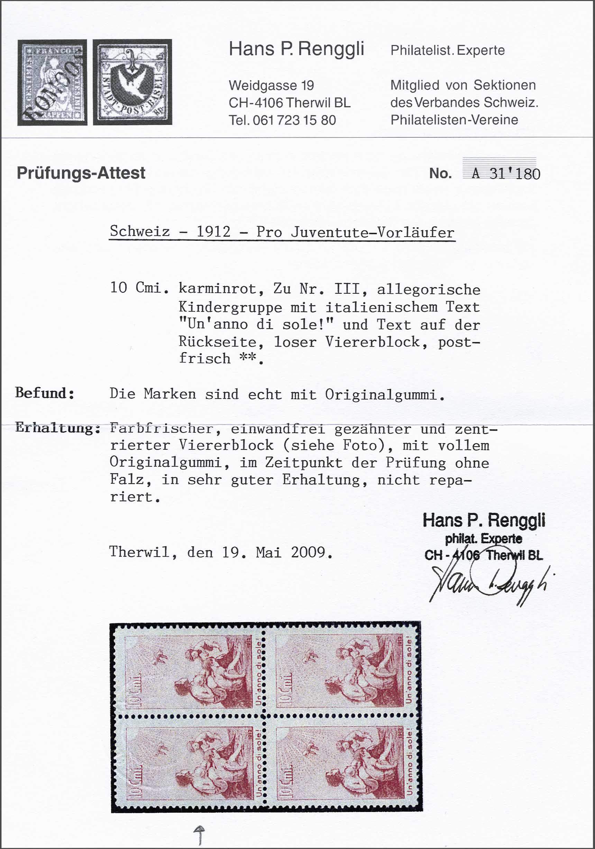 Lot 2929 - Switzerland Switzerland -  Corinphila Veilingen Auction 242: General sale