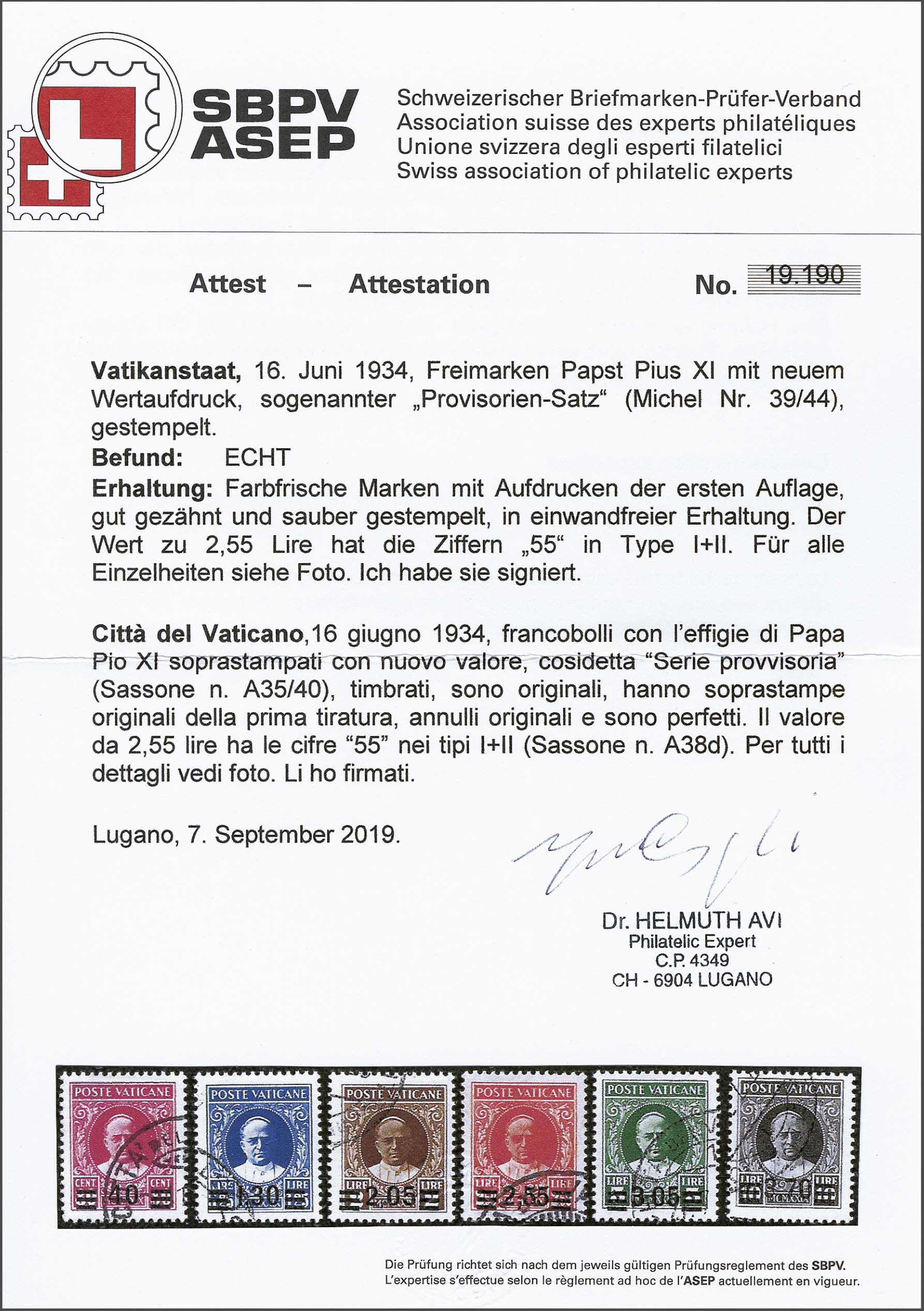 Lot 189 - Italy and former colonies Vatican City -  Corinphila Veilingen Auction 244 -Netherlands and former colonies, WW2 Postal History, Bosnia, German and British colonies, Egypt. - Day 1