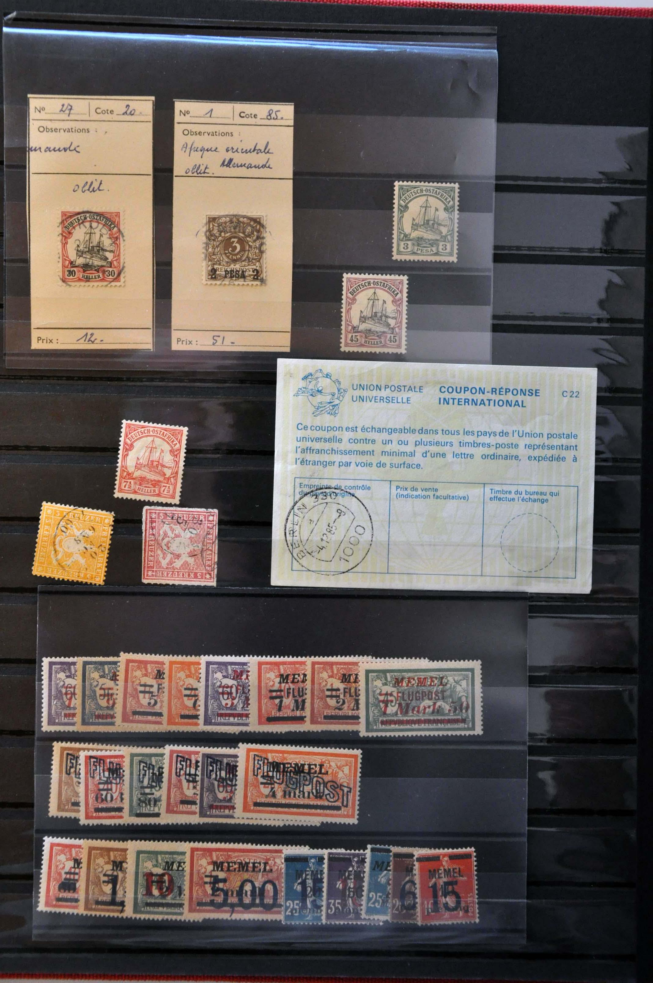 Lot 591 - Germany and former colonies german states -  Corinphila Veilingen Auction 244 -Netherlands and former colonies, WW2 Postal History, Bosnia, German and British colonies, Egypt. - Day 1