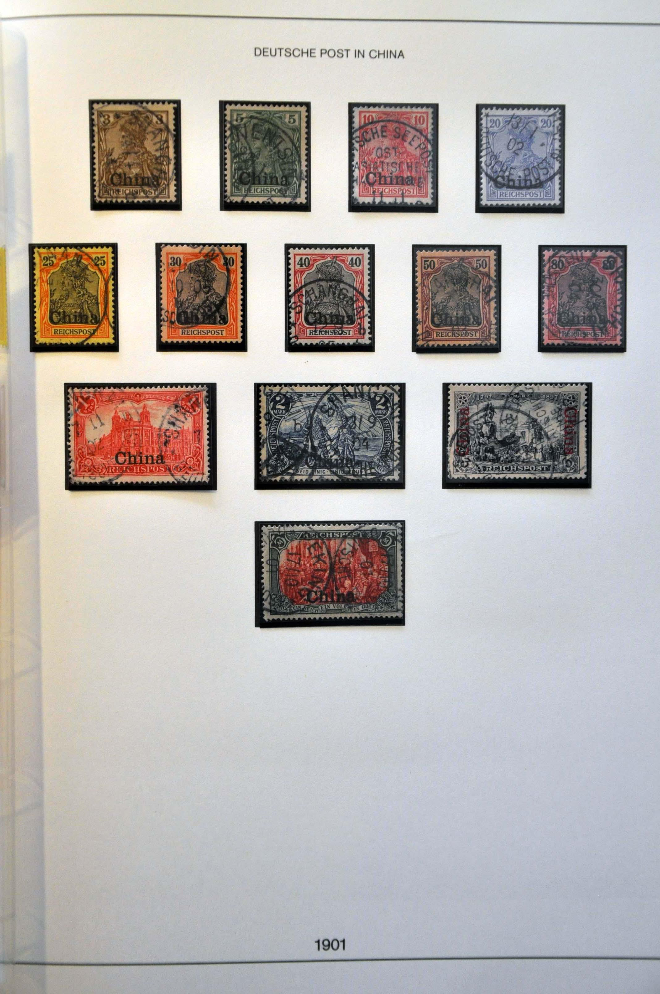 Lot 296 - Germany and former colonies German Post Office in China -  Corinphila Veilingen Auction 244 -Netherlands and former colonies, WW2 Postal History, Bosnia, German and British colonies, Egypt. - Day 1