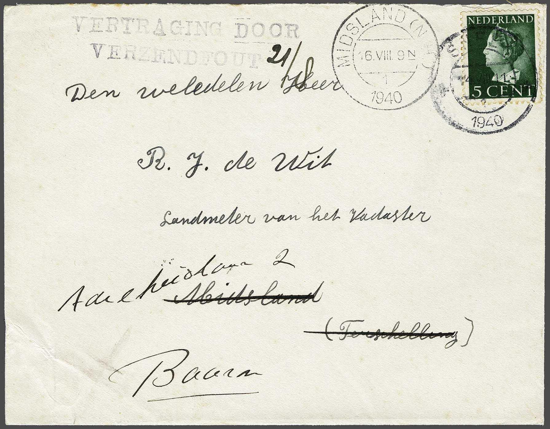 Lot 2816 - Netherlands and former colonies Netherlands -  Corinphila Veilingen Auction 244 -Netherlands and former colonies, WW2 Postal History, Bosnia, German and British colonies, Egypt. - Day 3
