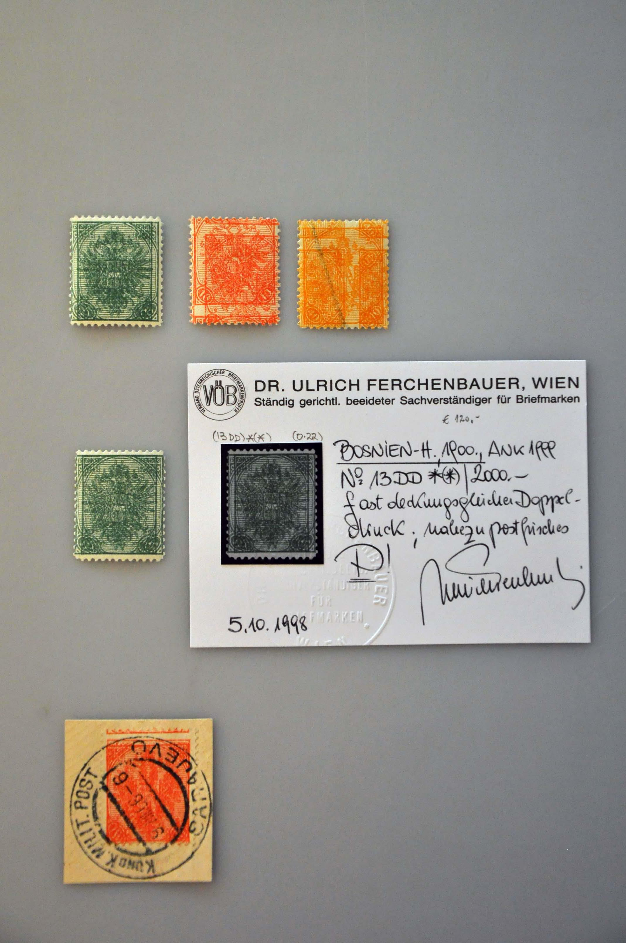 Lot 17 - Austria and former territories Bosnia and Herzegowina (Austrian) -  Corinphila Veilingen Auction 244 -Netherlands and former colonies, WW2 Postal History, Bosnia, German and British colonies, Egypt. - Day 1