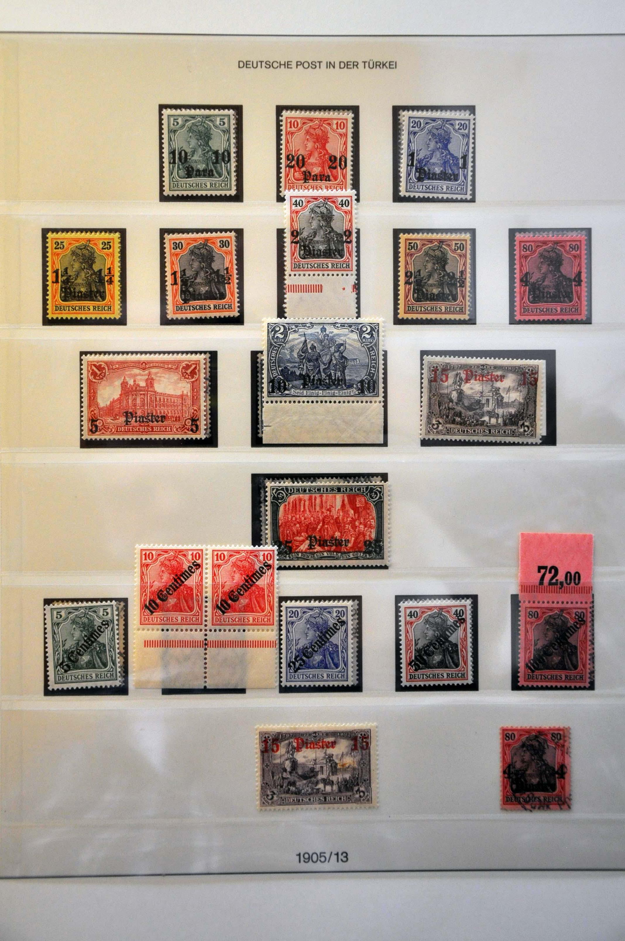 Lot 299 - Germany and former colonies German Post Office in Turkey -  Corinphila Veilingen Auction 244 -Netherlands and former colonies, WW2 Postal History, Bosnia, German and British colonies, Egypt. - Day 1