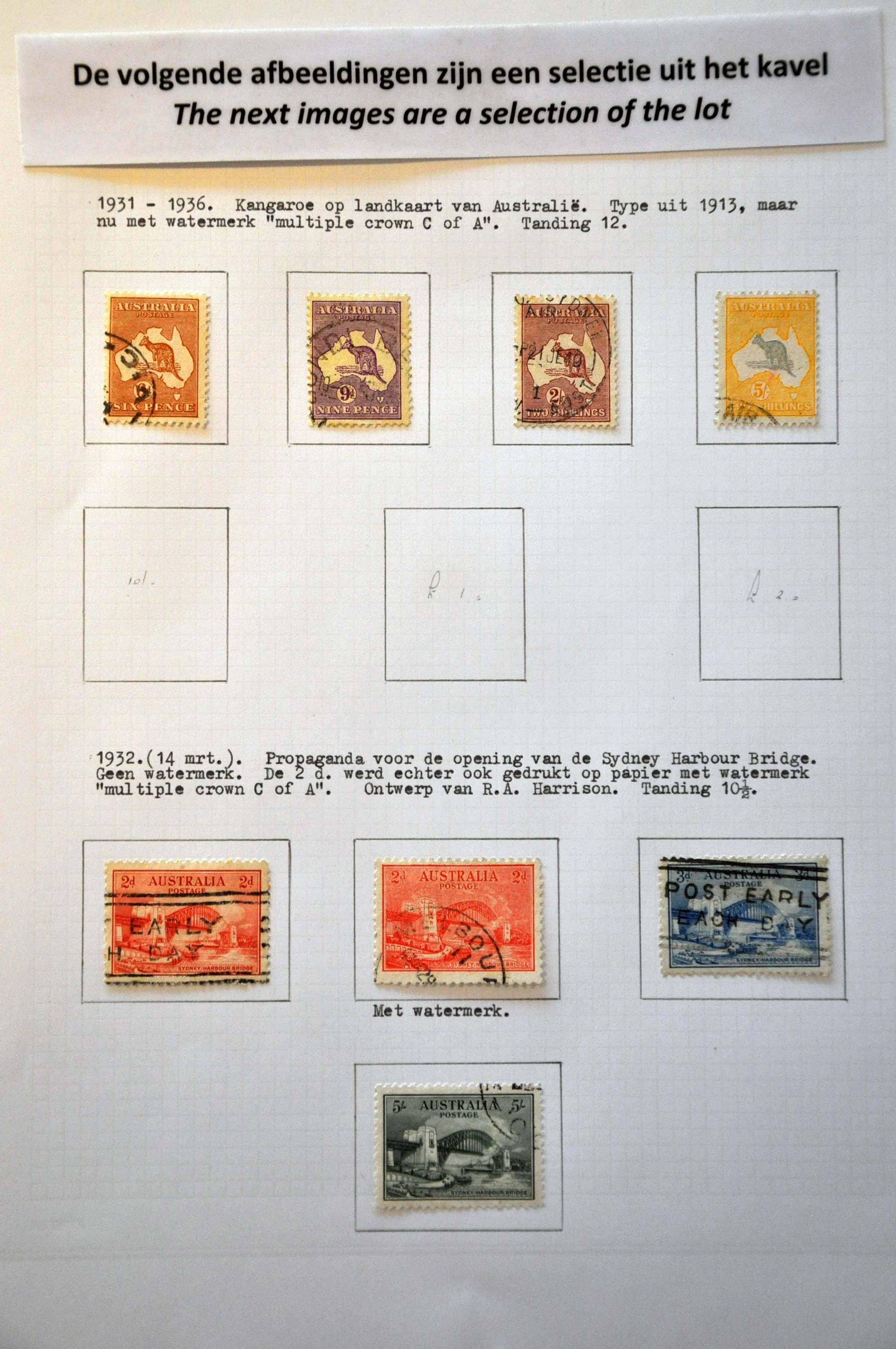 Lot 739 - Great Britain and former colonies Australia -  Corinphila Veilingen Auction 244 -Netherlands and former colonies, WW2 Postal History, Bosnia, German and British colonies, Egypt. - Day 1