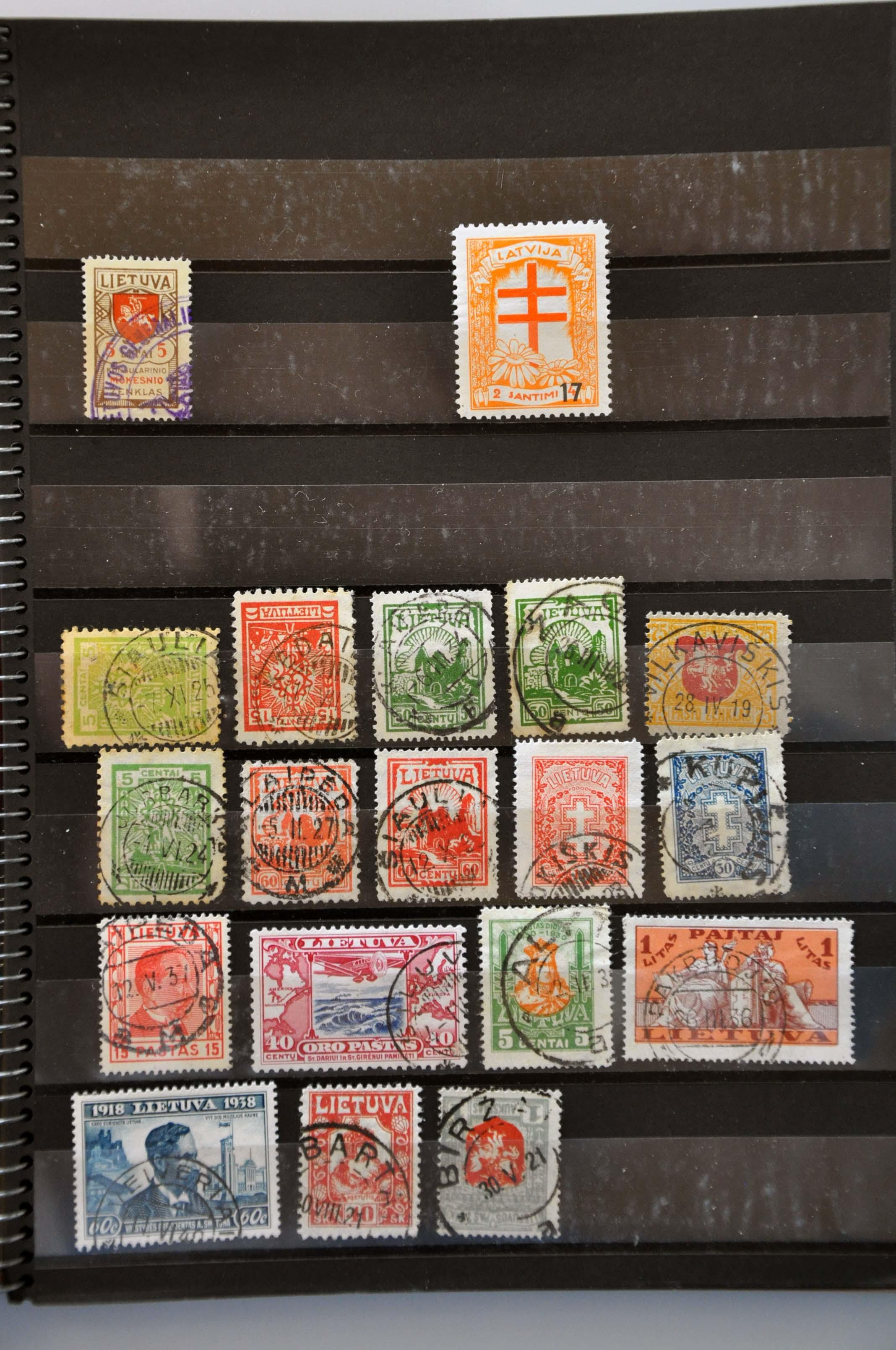 Lot 587 - baltic states baltic states -  Corinphila Veilingen Auction 245-246 Day 2 - Foreign countries - Collections and lots, Foreign countries - Boxes and literature