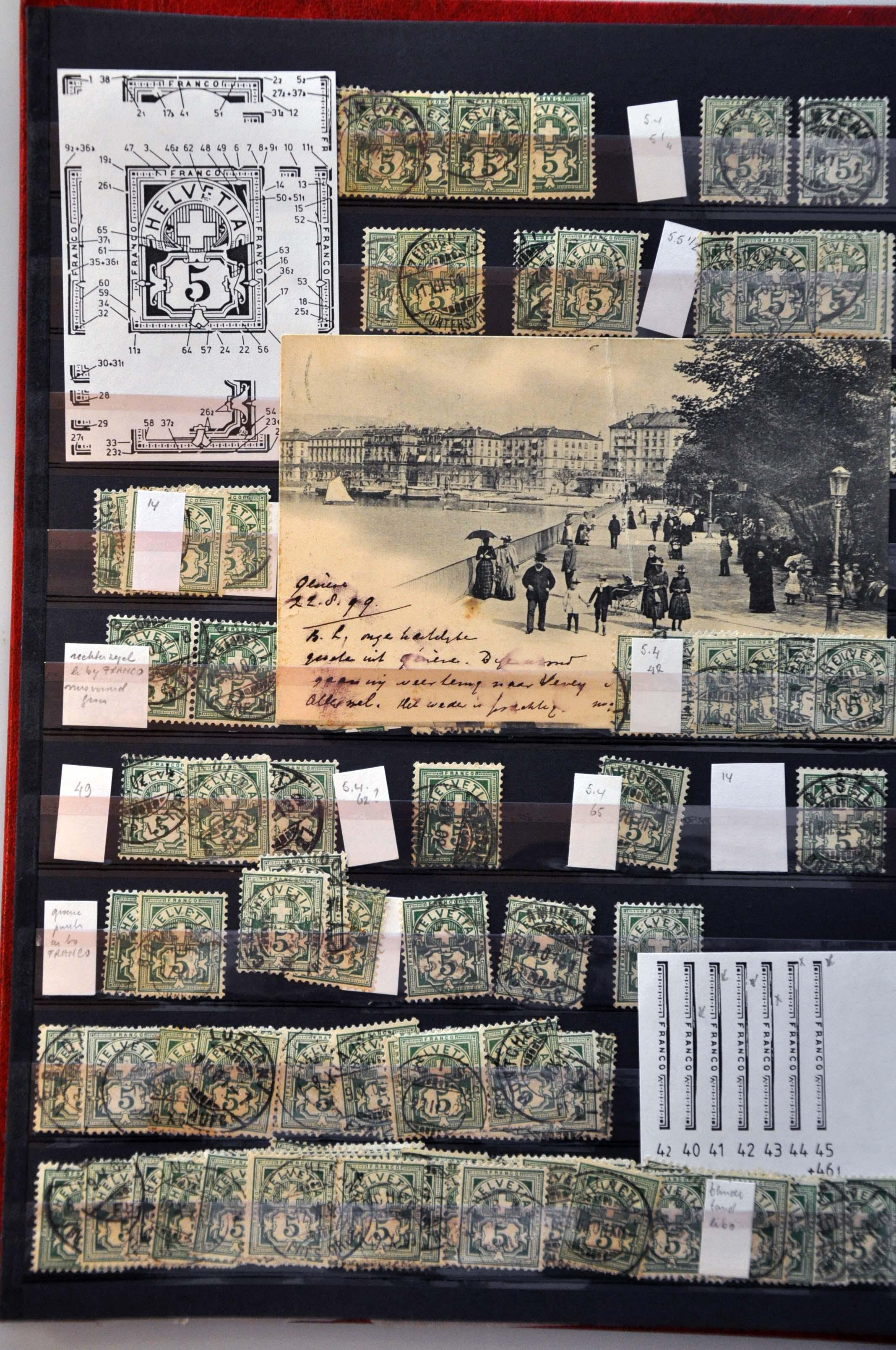 Lot 1346 - Switzerland Switzerland -  Corinphila Veilingen Auction 245-246 Day 2 - Foreign countries - Collections and lots, Foreign countries - Boxes and literature