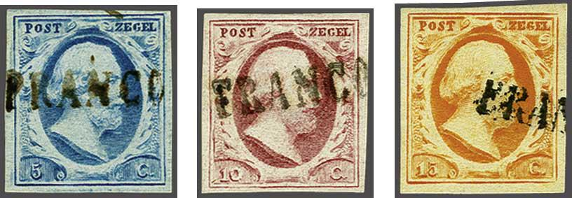 Lot 1716 - Netherlands and former colonies NL 1852 King William III -  Corinphila Veilingen Auction 245-246 Day 3 - Netherlands and former colonies - Single lots, Collections and lots, Boxes and literature