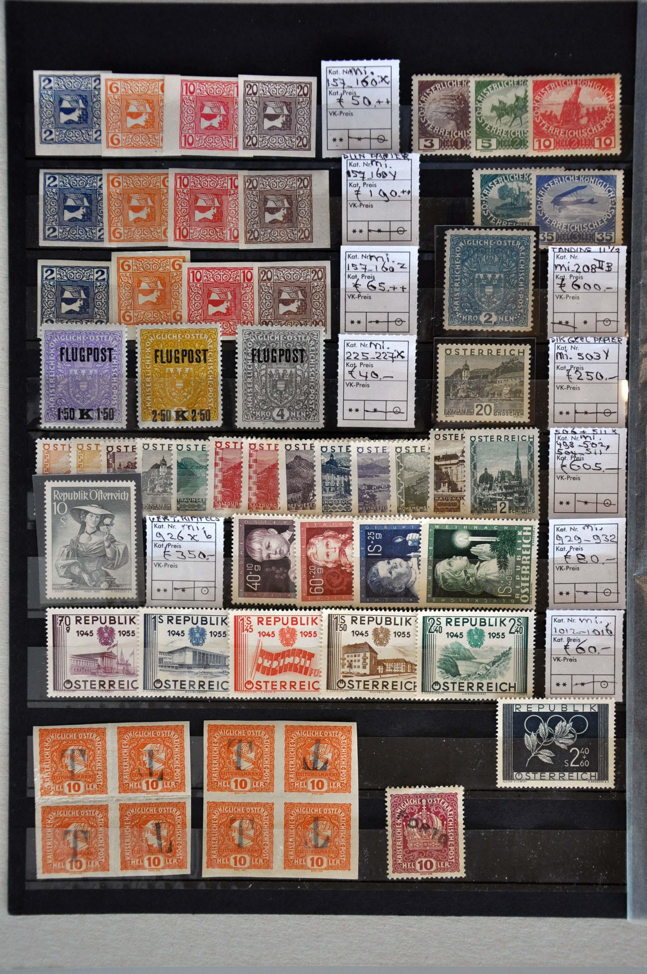 Lot 579 - Austria and former territories Austria -  Corinphila Veilingen Auction 245-246 Day 2 - Foreign countries - Collections and lots, Foreign countries - Boxes and literature