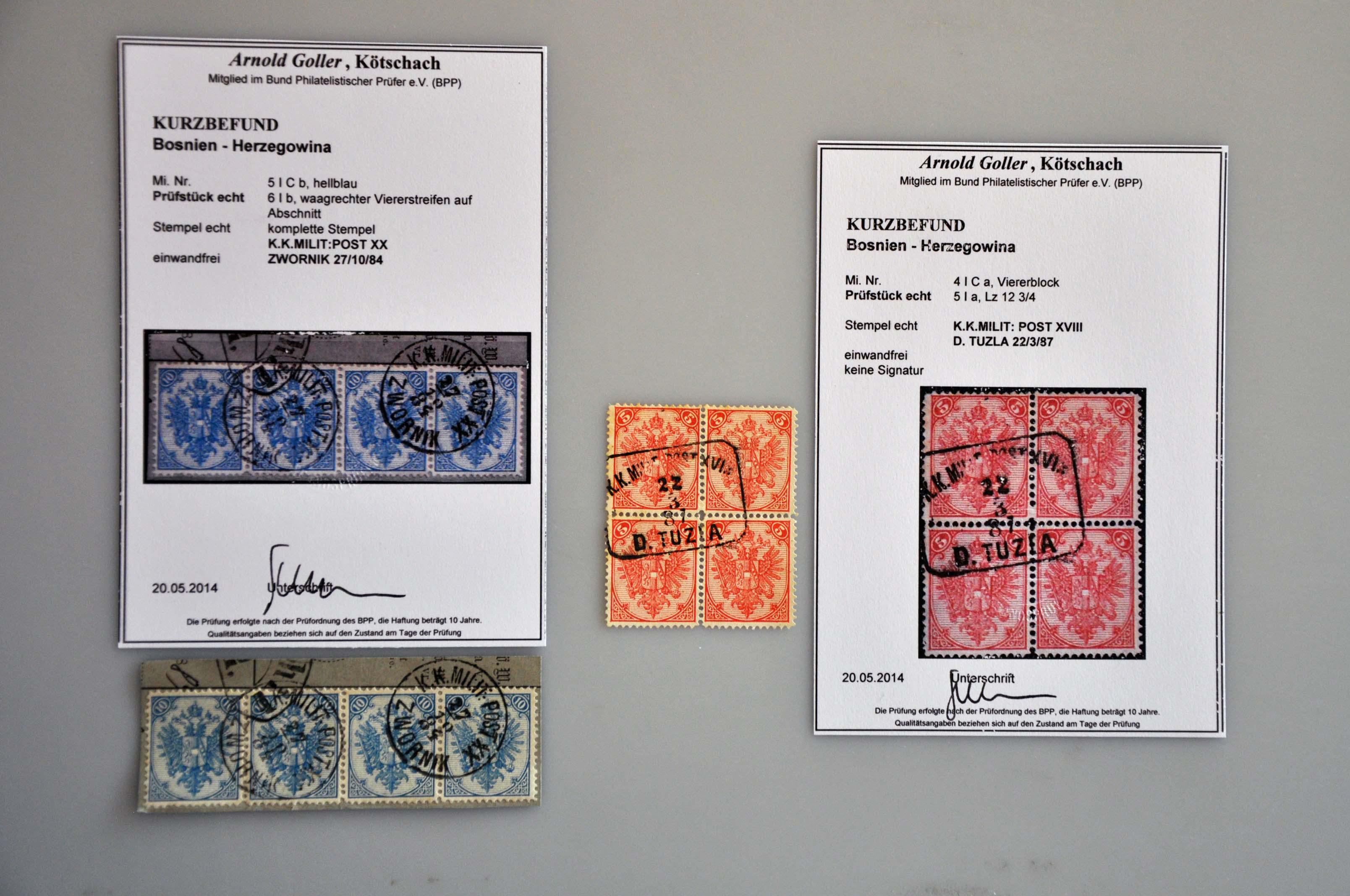 Lot 582 - Austria and former territories Bosnia and Herzegovina (Austrian) -  Corinphila Veilingen Auction 245-246 Day 2 - Foreign countries - Collections and lots, Foreign countries - Boxes and literature