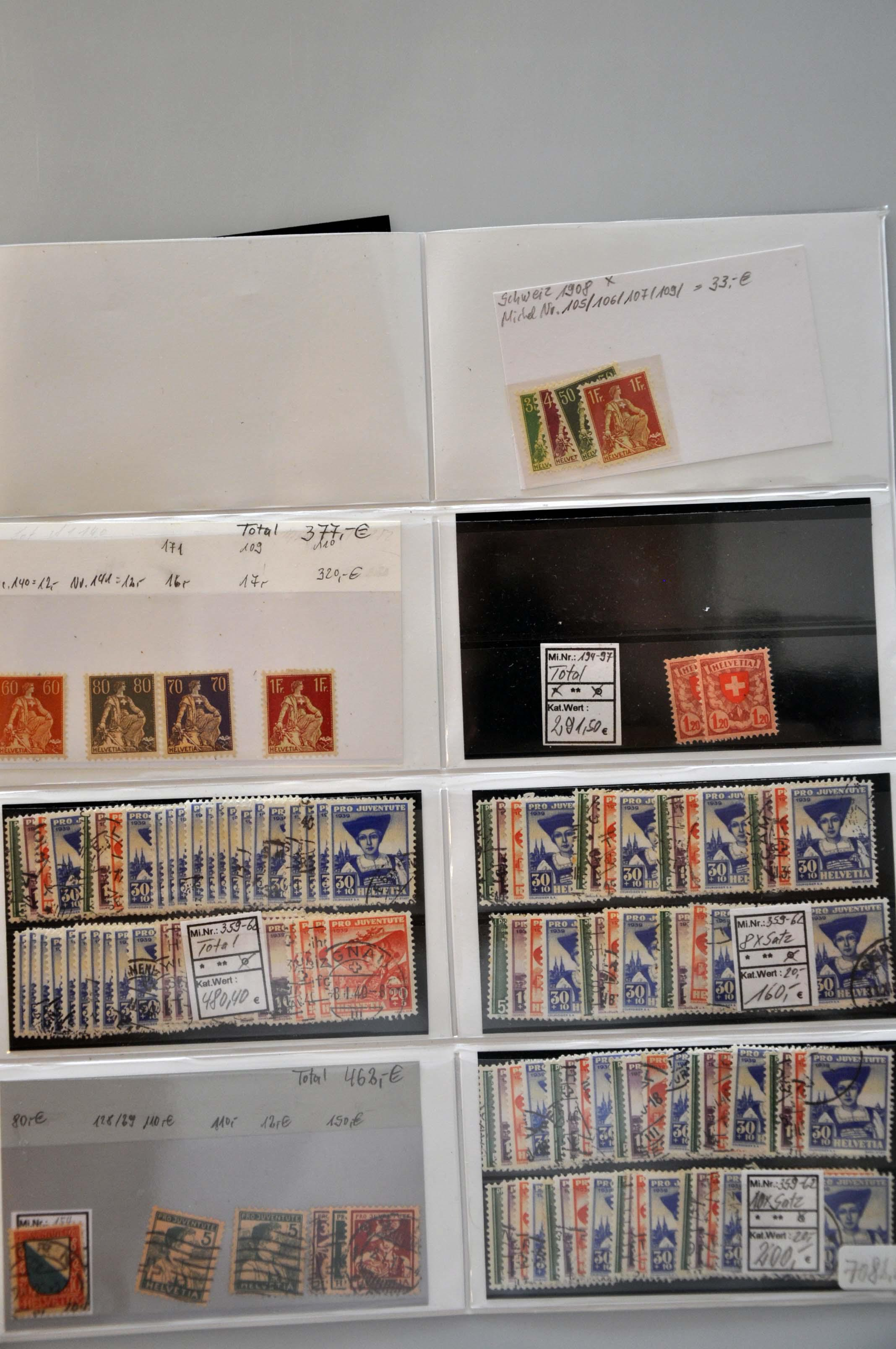Lot 1350 - Switzerland Switzerland -  Corinphila Veilingen Auction 245-246 Day 2 - Foreign countries - Collections and lots, Foreign countries - Boxes and literature