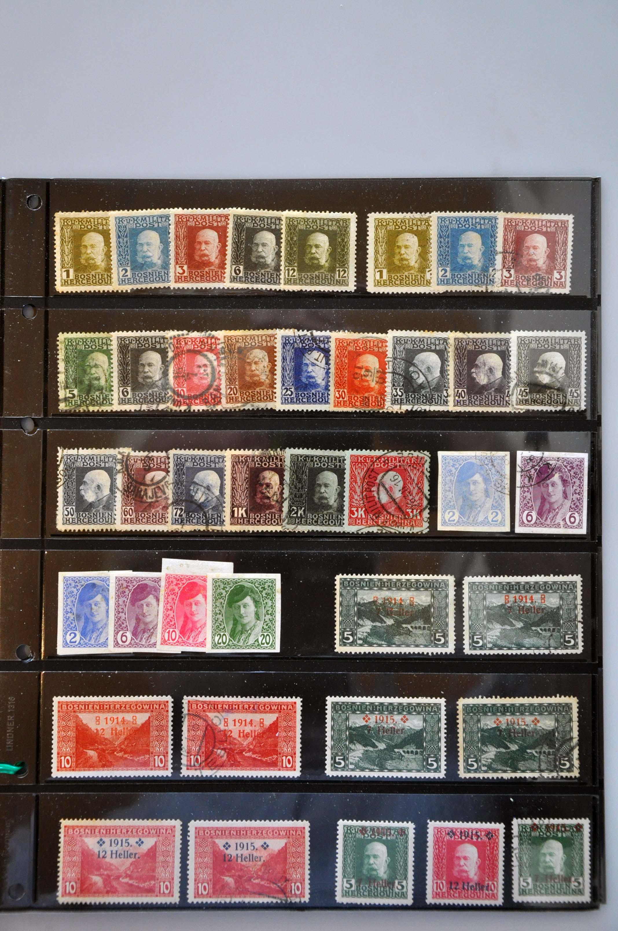 Lot 586 - Austria and former territories Bosnia and Herzegovina (Austrian) -  Corinphila Veilingen Auction 245-246 Day 2 - Foreign countries - Collections and lots, Foreign countries - Boxes and literature