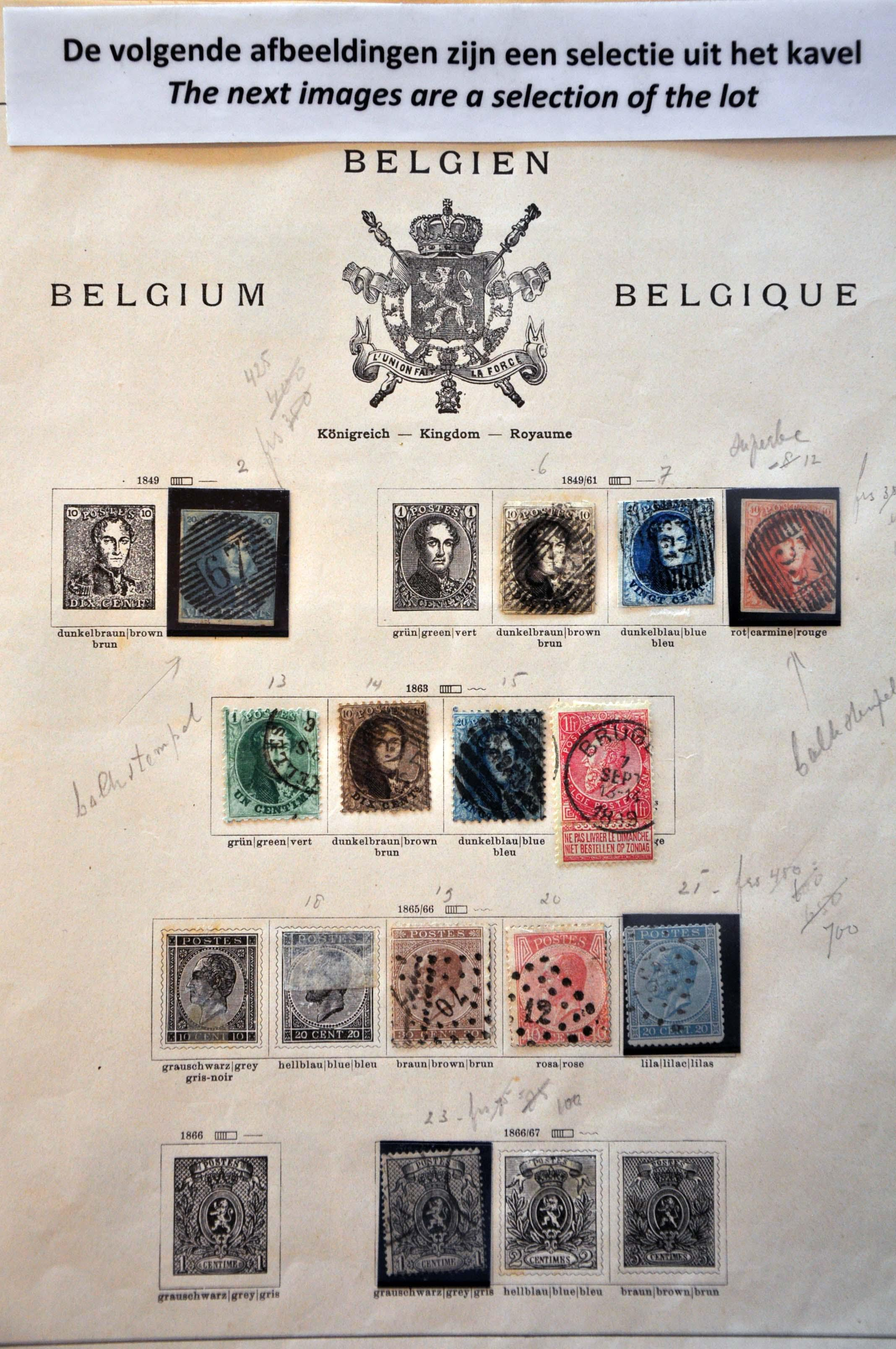 Lot 593 - Belgium and former colonies Belgium -  Corinphila Veilingen Auction 245-246 Day 2 - Foreign countries - Collections and lots, Foreign countries - Boxes and literature