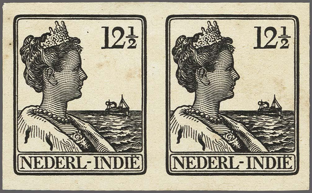 Lot 3324 - Netherlands and former colonies Netherlands Indies -  Corinphila Veilingen Auction 250-253 - Day 4 - Proofs of Netherlands former colonies