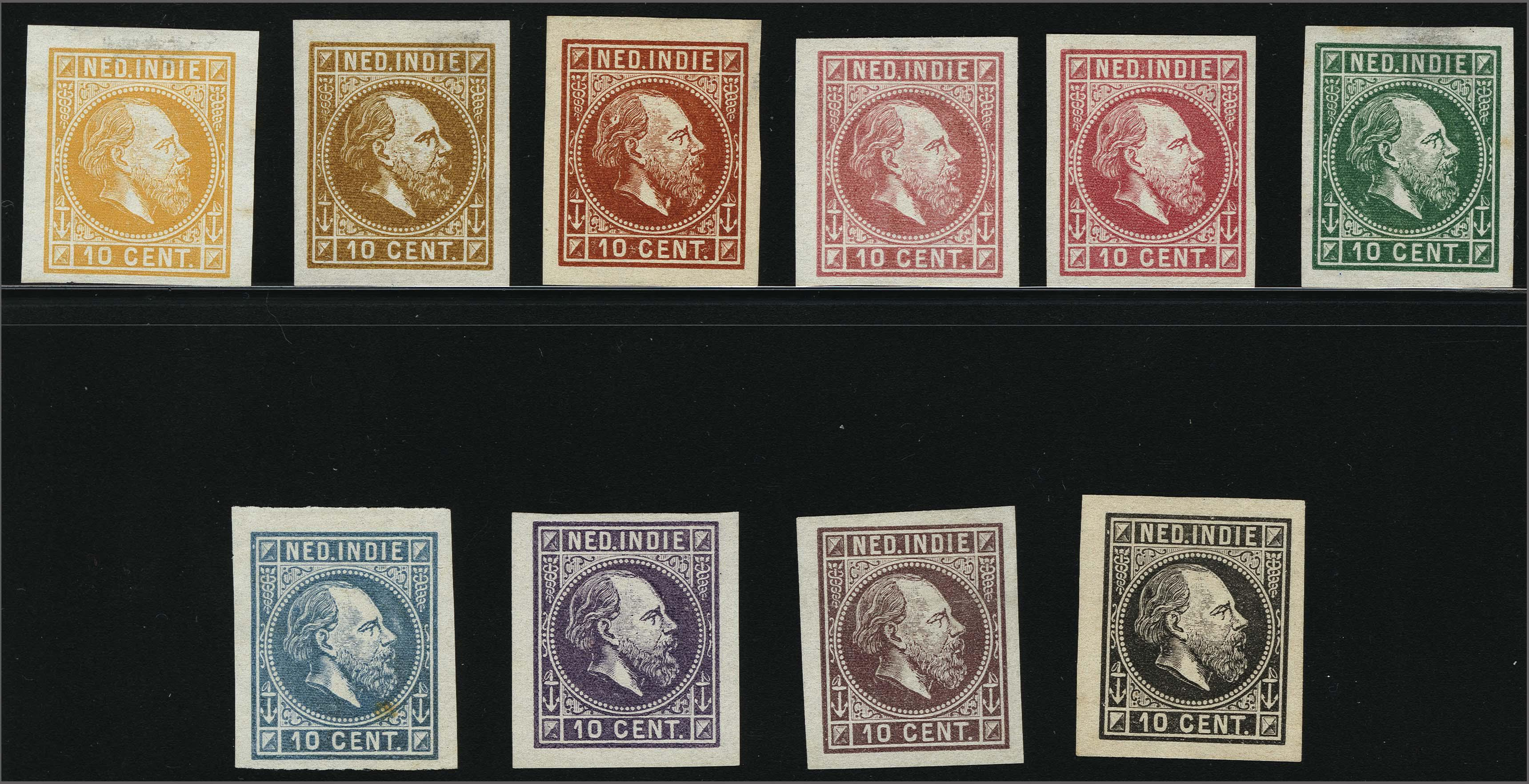 Lot 3304 - Netherlands and former colonies Netherlands Indies -  Corinphila Veilingen Auction 250-253 - Day 4 - Proofs of Netherlands former colonies