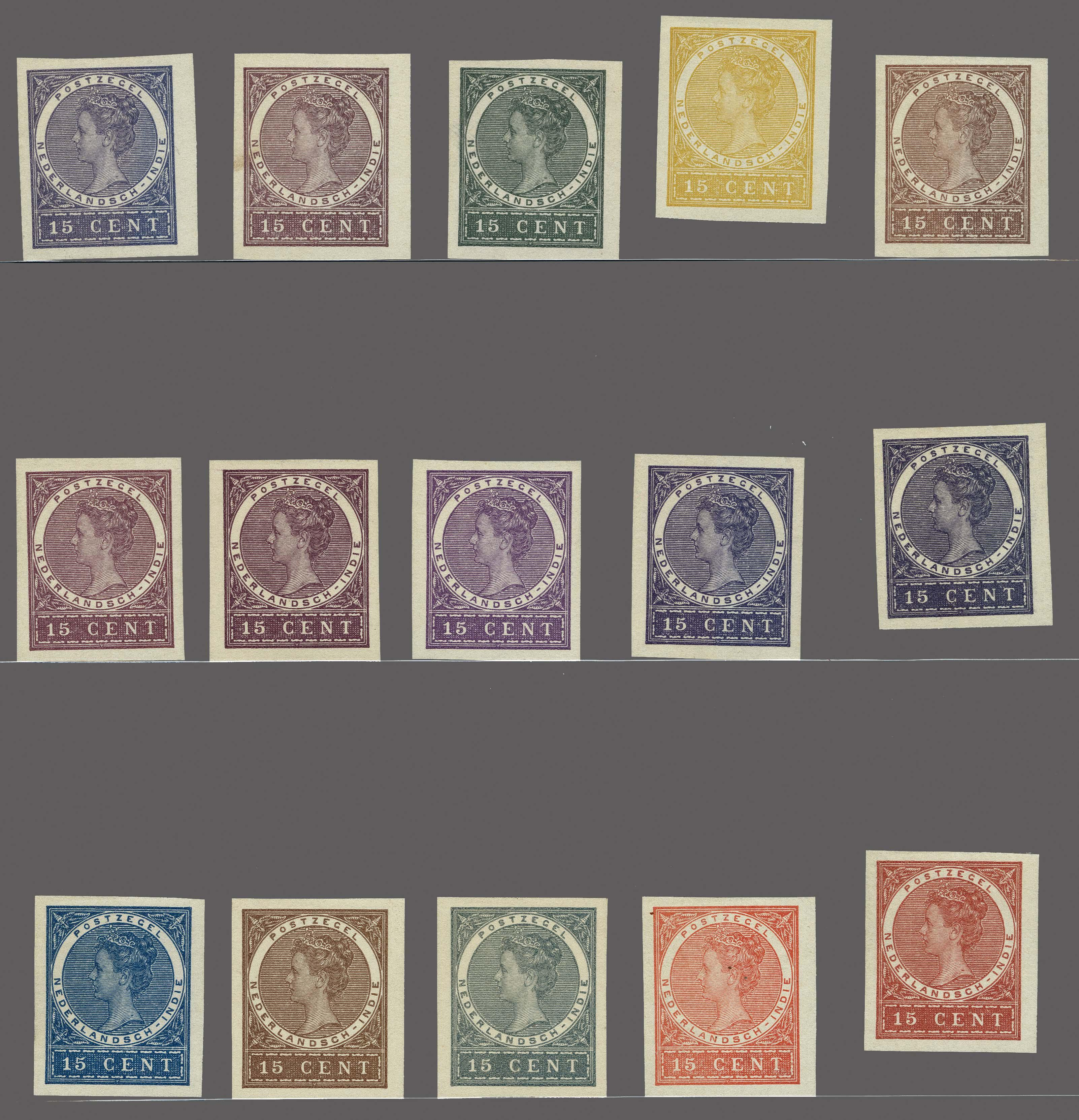 Lot 3315 - Netherlands and former colonies Netherlands Indies -  Corinphila Veilingen Auction 250-253 - Day 4 - Proofs of Netherlands former colonies