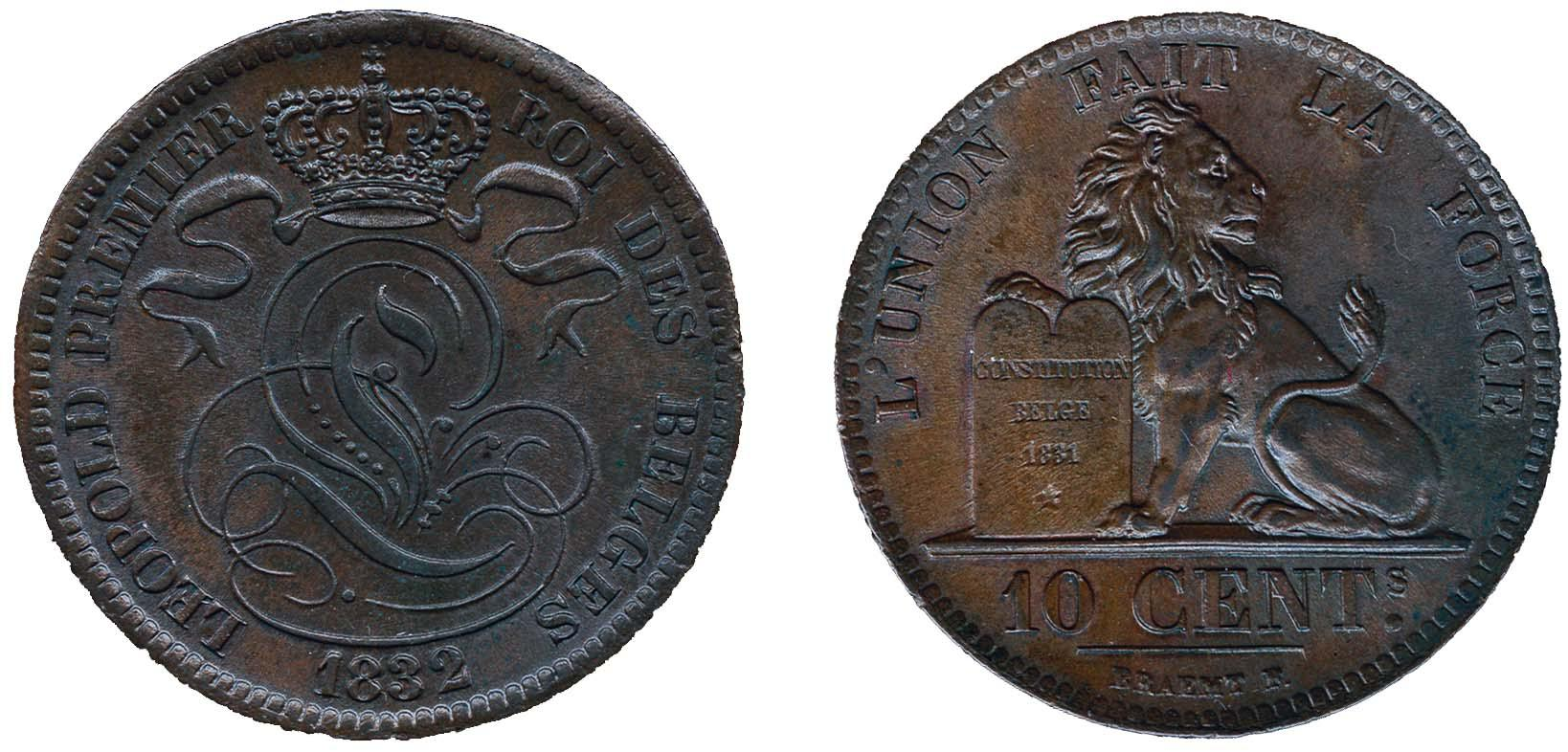Lot 1408 - Belgium and former colonies Belgium -  Corinphila Veilingen Auction 250-253 - Day 2 - Coins, medals, Netherlands and former colonies