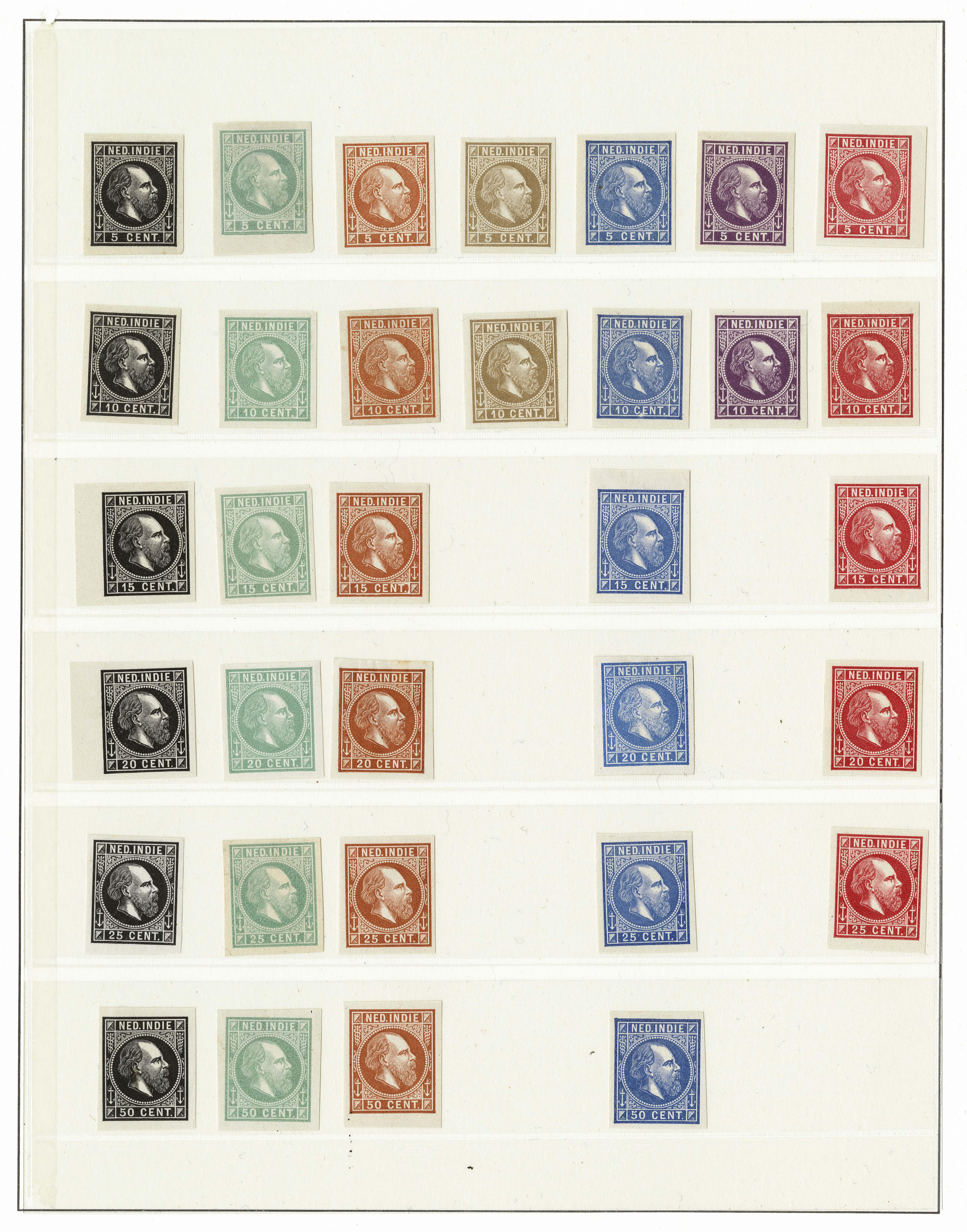 Lot 3305 - Netherlands and former colonies Netherlands Indies -  Corinphila Veilingen Auction 250-253 - Day 4 - Proofs of Netherlands former colonies