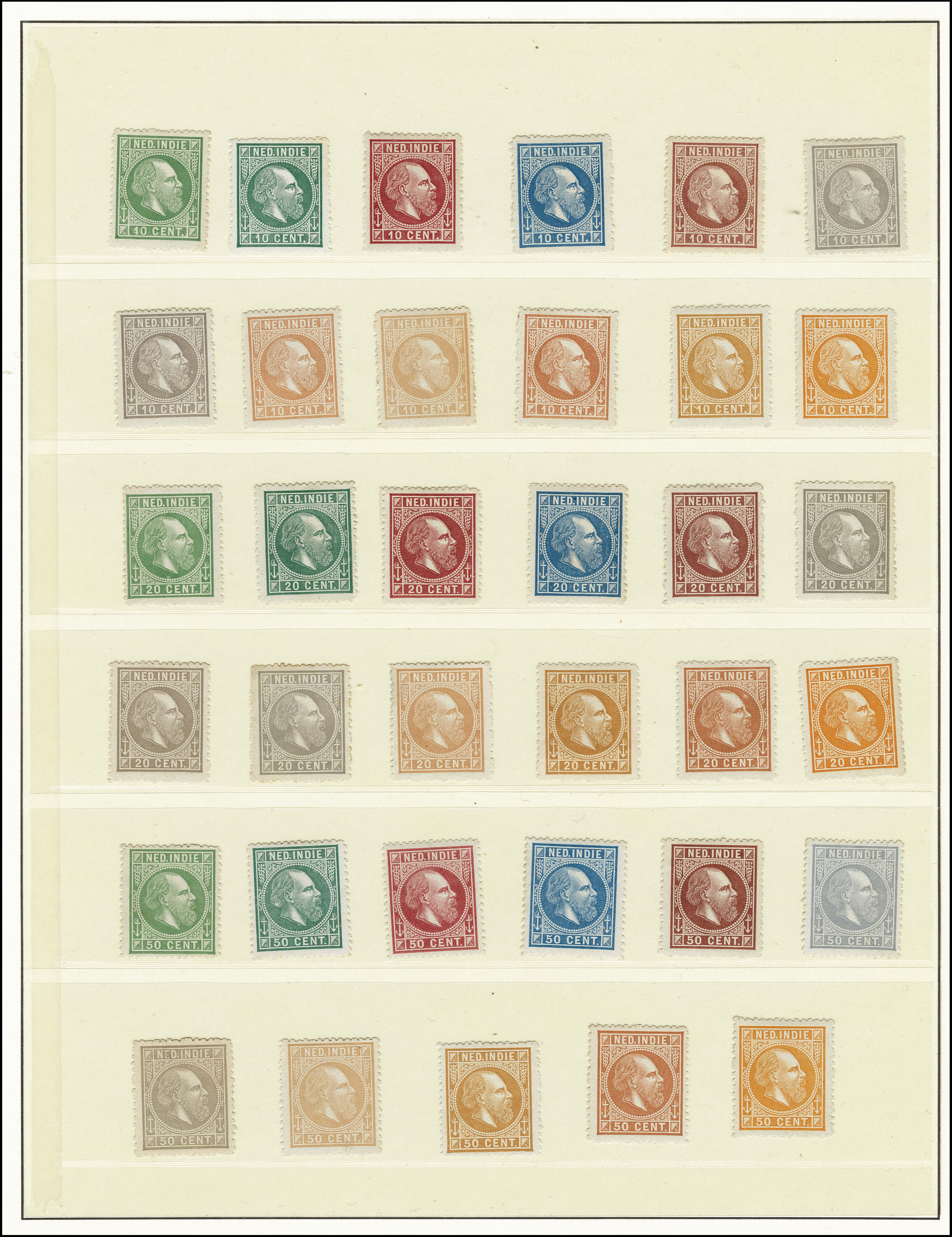 Lot 3307 - Netherlands and former colonies Netherlands Indies -  Corinphila Veilingen Auction 250-253 - Day 4 - Proofs of Netherlands former colonies