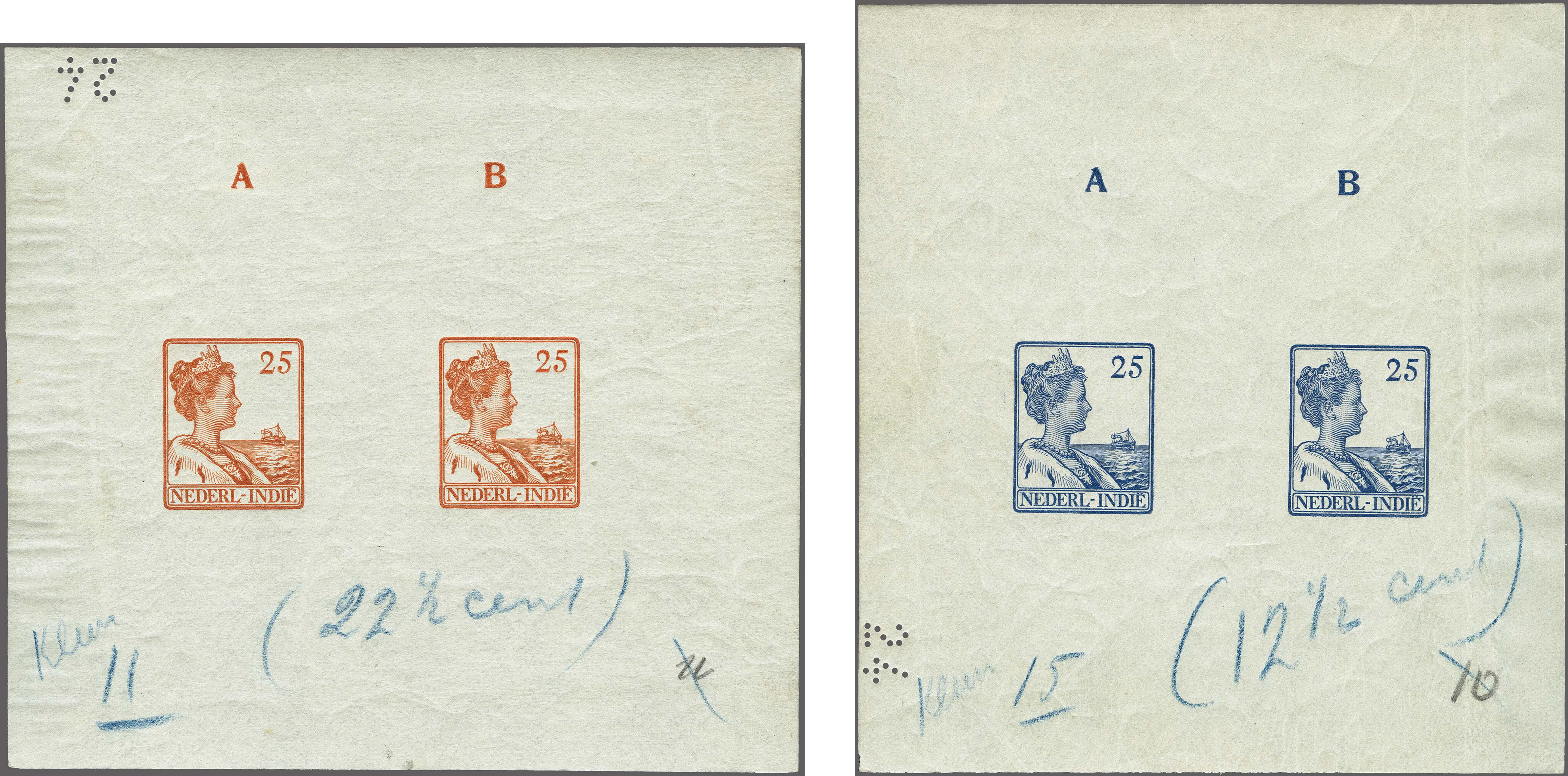Lot 3323 - Netherlands and former colonies Netherlands Indies -  Corinphila Veilingen Auction 250-253 - Day 4 - Proofs of Netherlands former colonies