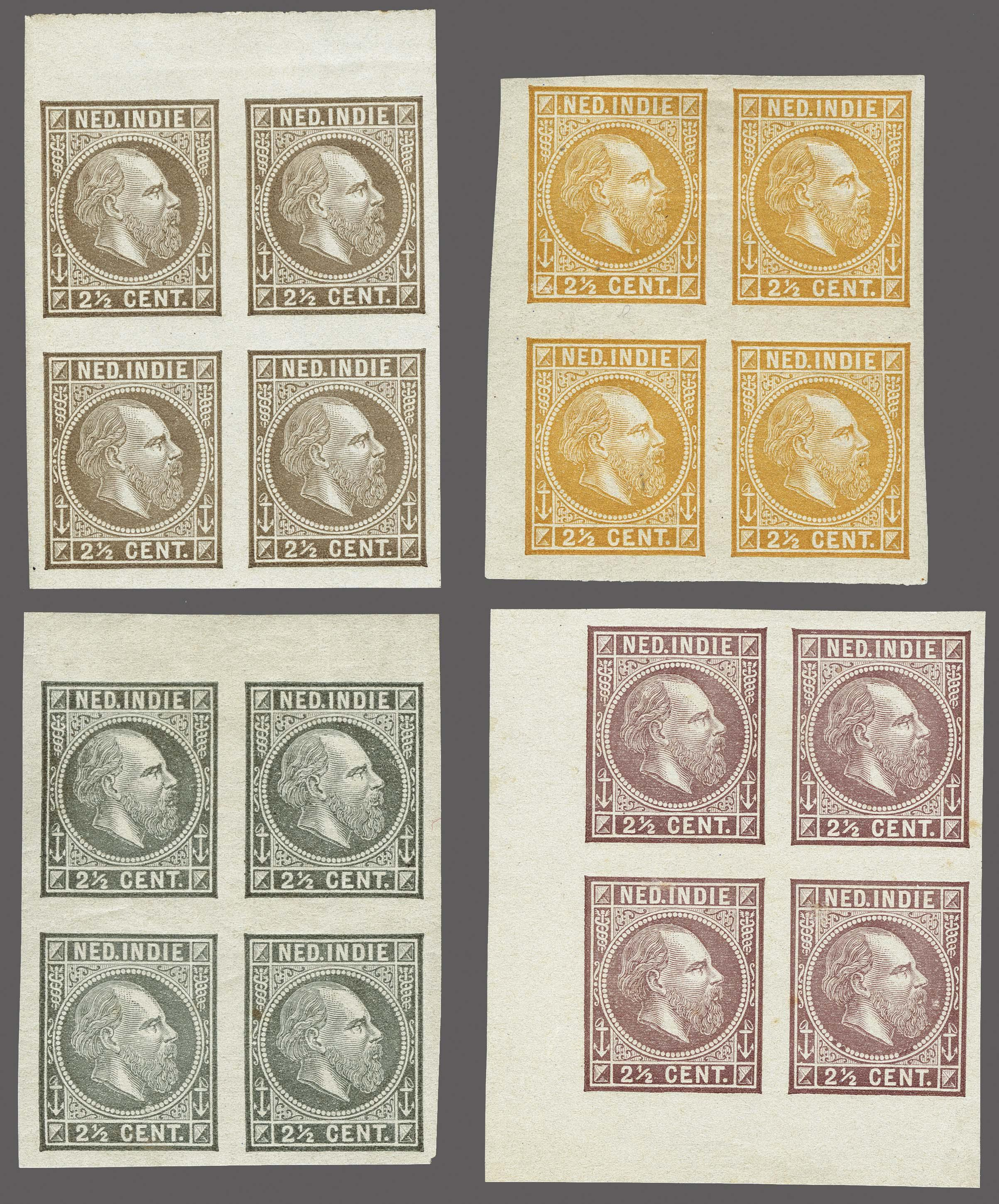 Lot 3309 - Netherlands and former colonies Netherlands Indies -  Corinphila Veilingen Auction 250-253 - Day 4 - Proofs of Netherlands former colonies