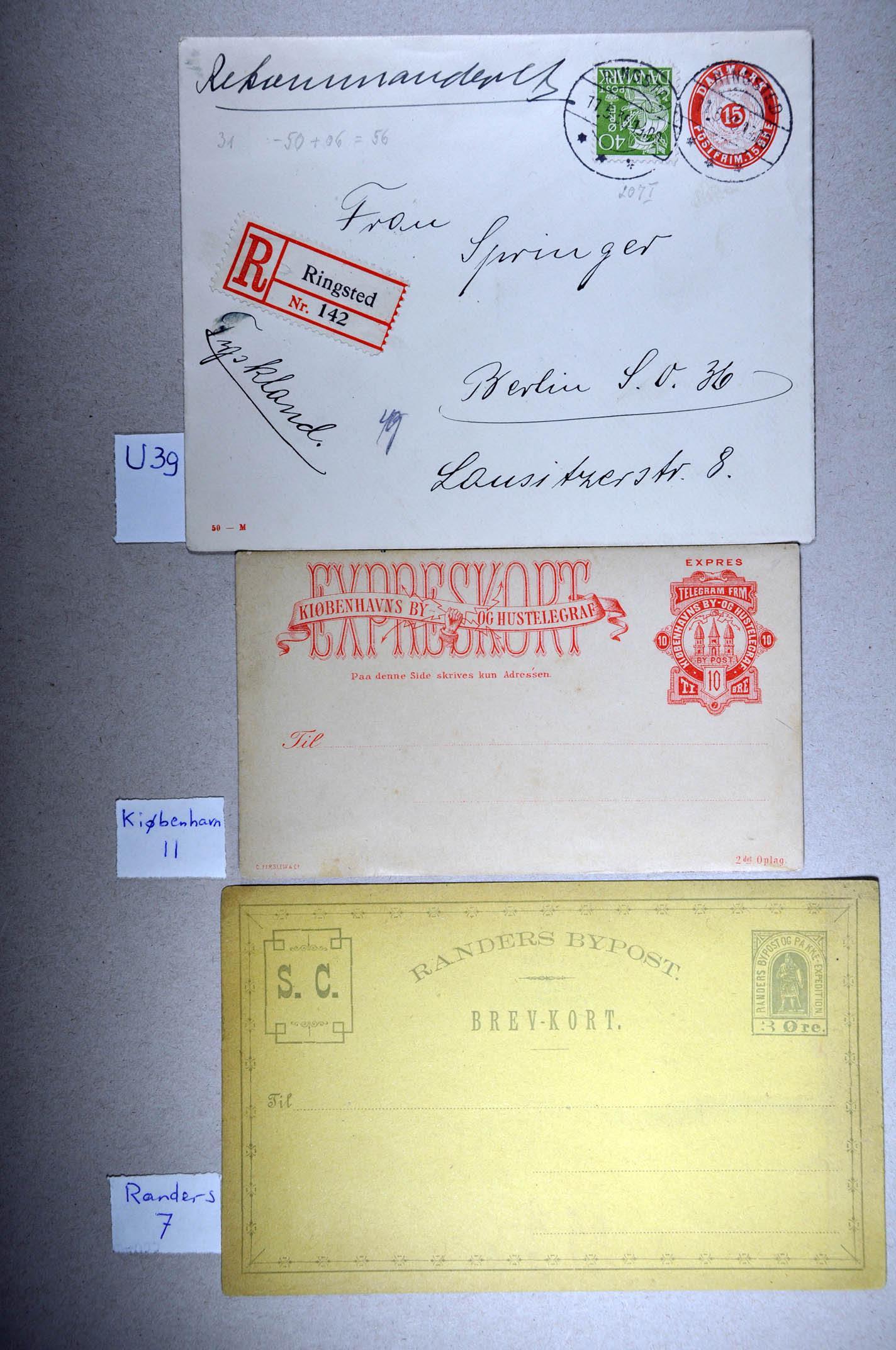 Stamp Auction European Countries Denmark 225 226th Auction