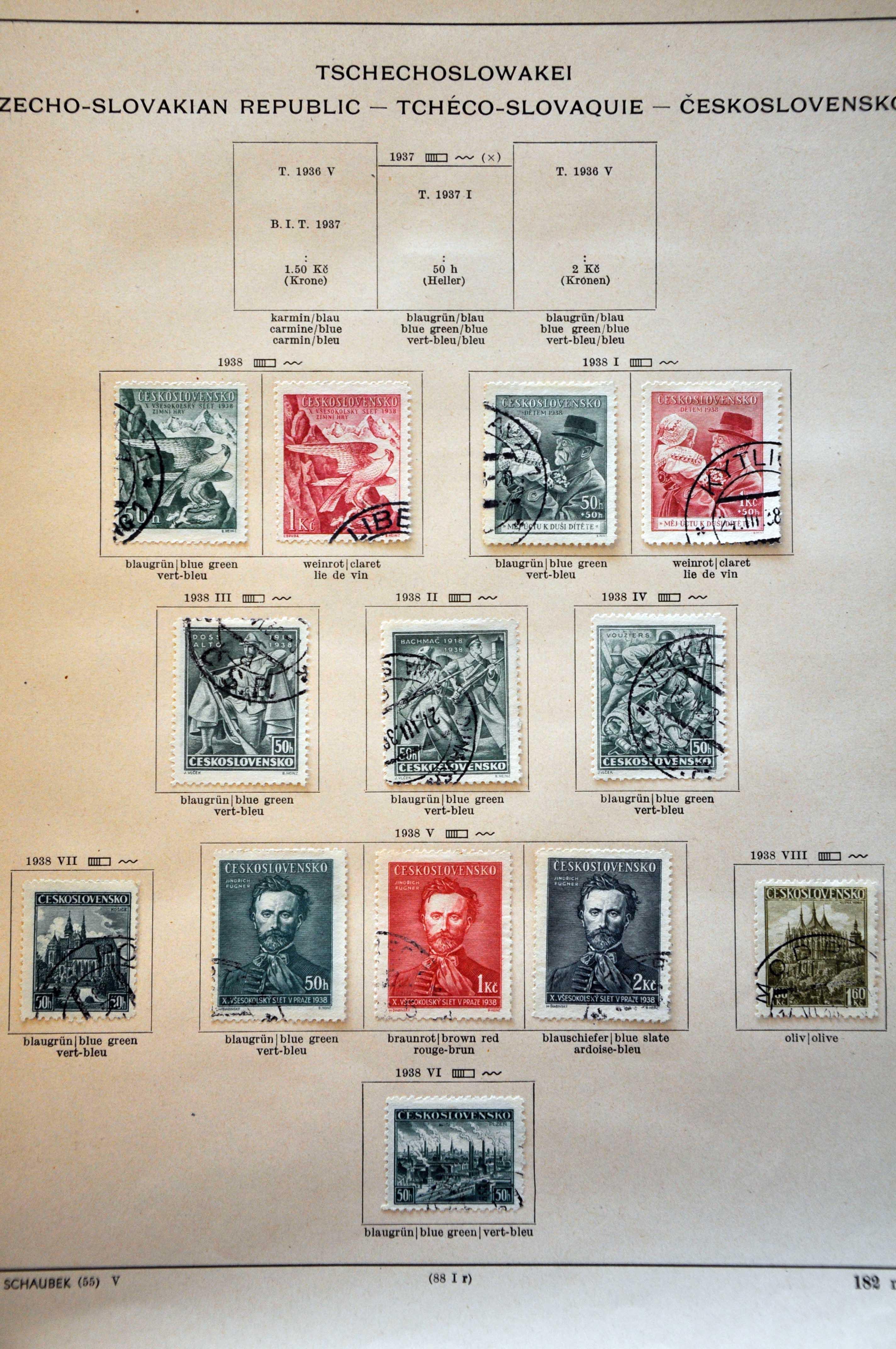 Stamp Auction - European Countries Czechoslovakia - Auction