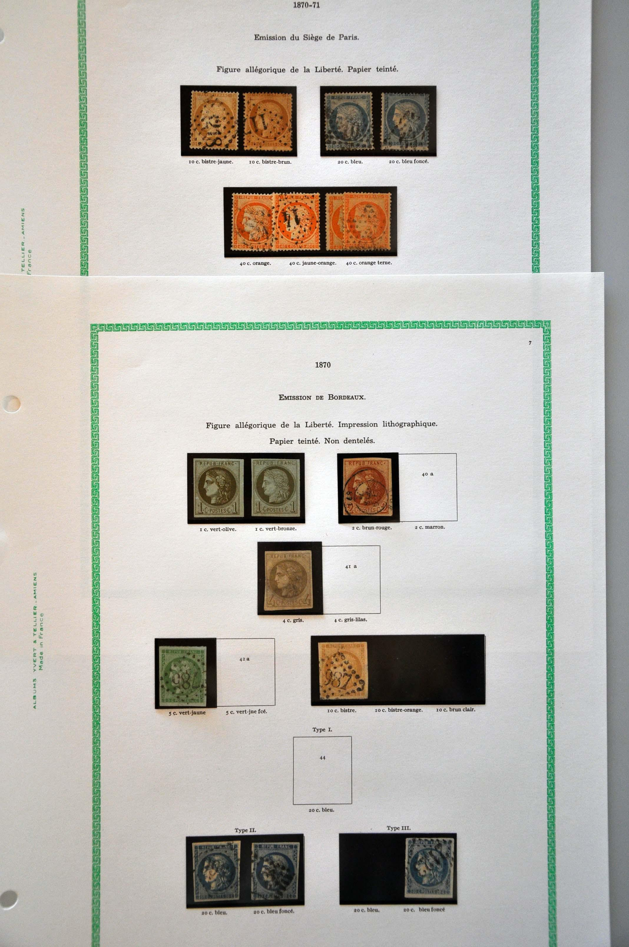 Stamp Auction - France and former colonies France - Auction