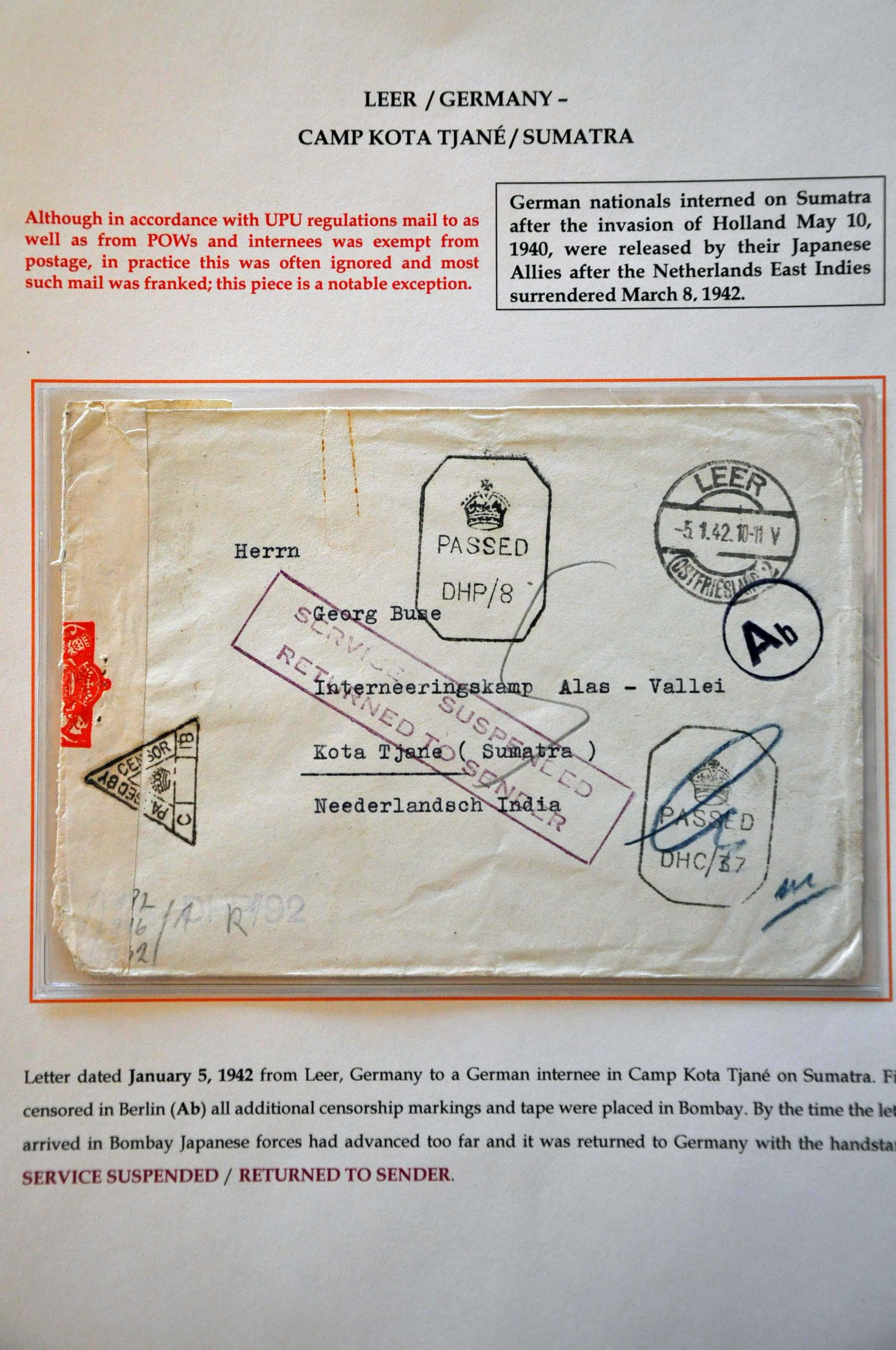 Lot 2891 - Netherlands and former colonies Netherlands -  Corinphila Veilingen Auction 244 -Netherlands and former colonies, WW2 Postal History, Bosnia, German and British colonies, Egypt. - Day 3