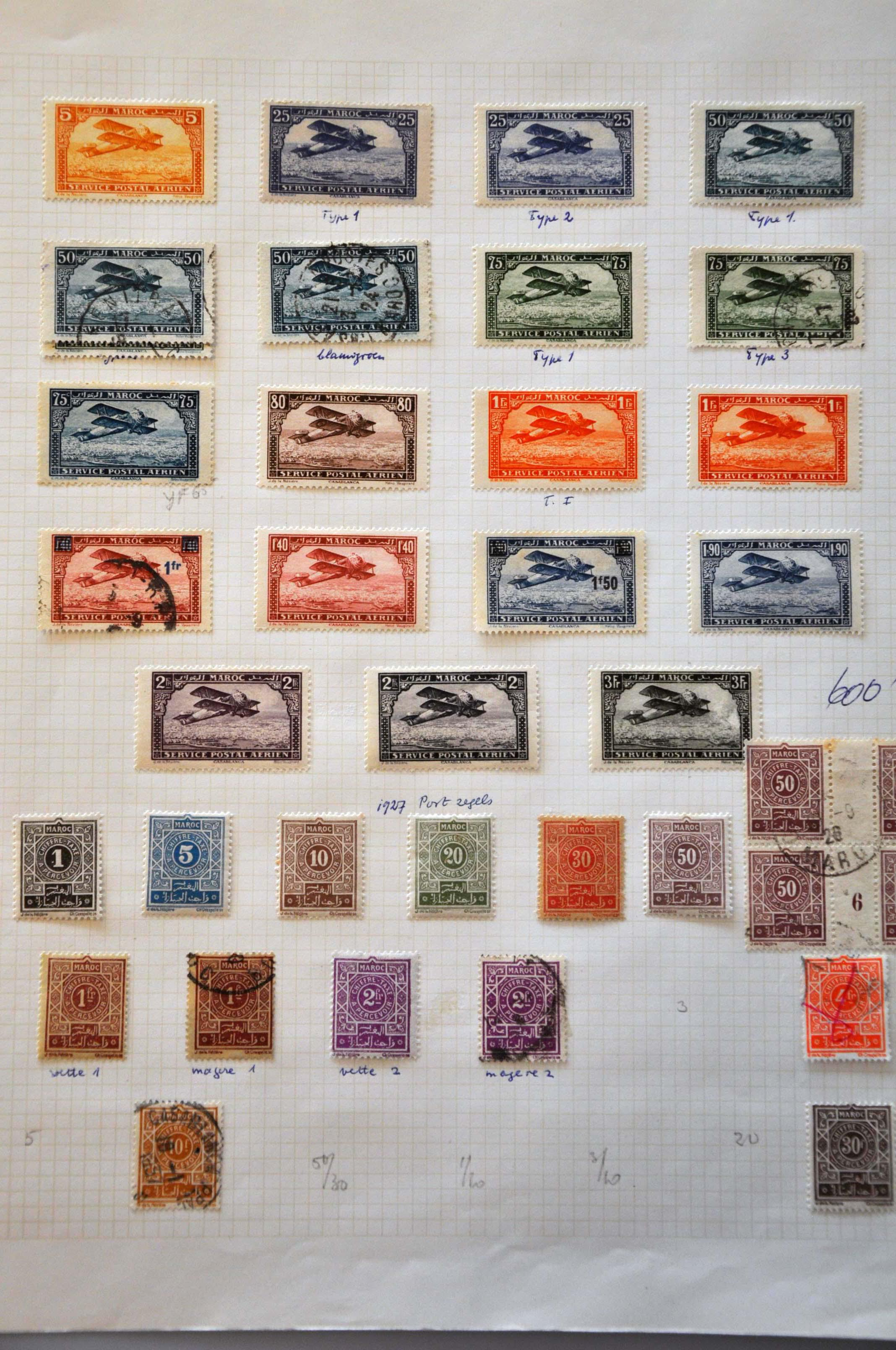 Lot 581 - France and former colonies French Mail in Morocco -  Corinphila Veilingen Auction 244 -Netherlands and former colonies, WW2 Postal History, Bosnia, German and British colonies, Egypt. - Day 1