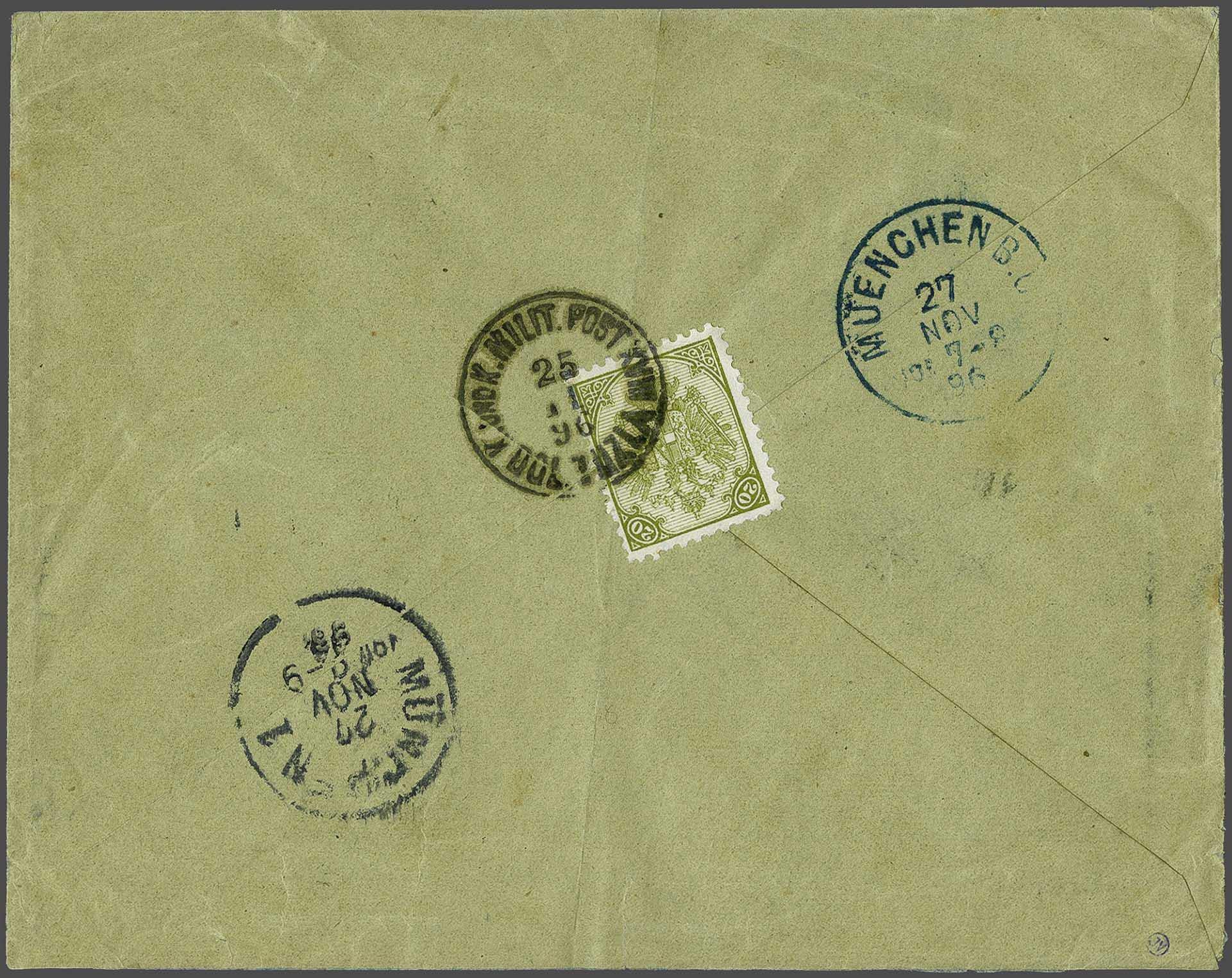 Lot 12 - Austria and former territories Bosnia and Herzegowina (Austrian) -  Corinphila Veilingen Auction 244 -Netherlands and former colonies, WW2 Postal History, Bosnia, German and British colonies, Egypt. - Day 1
