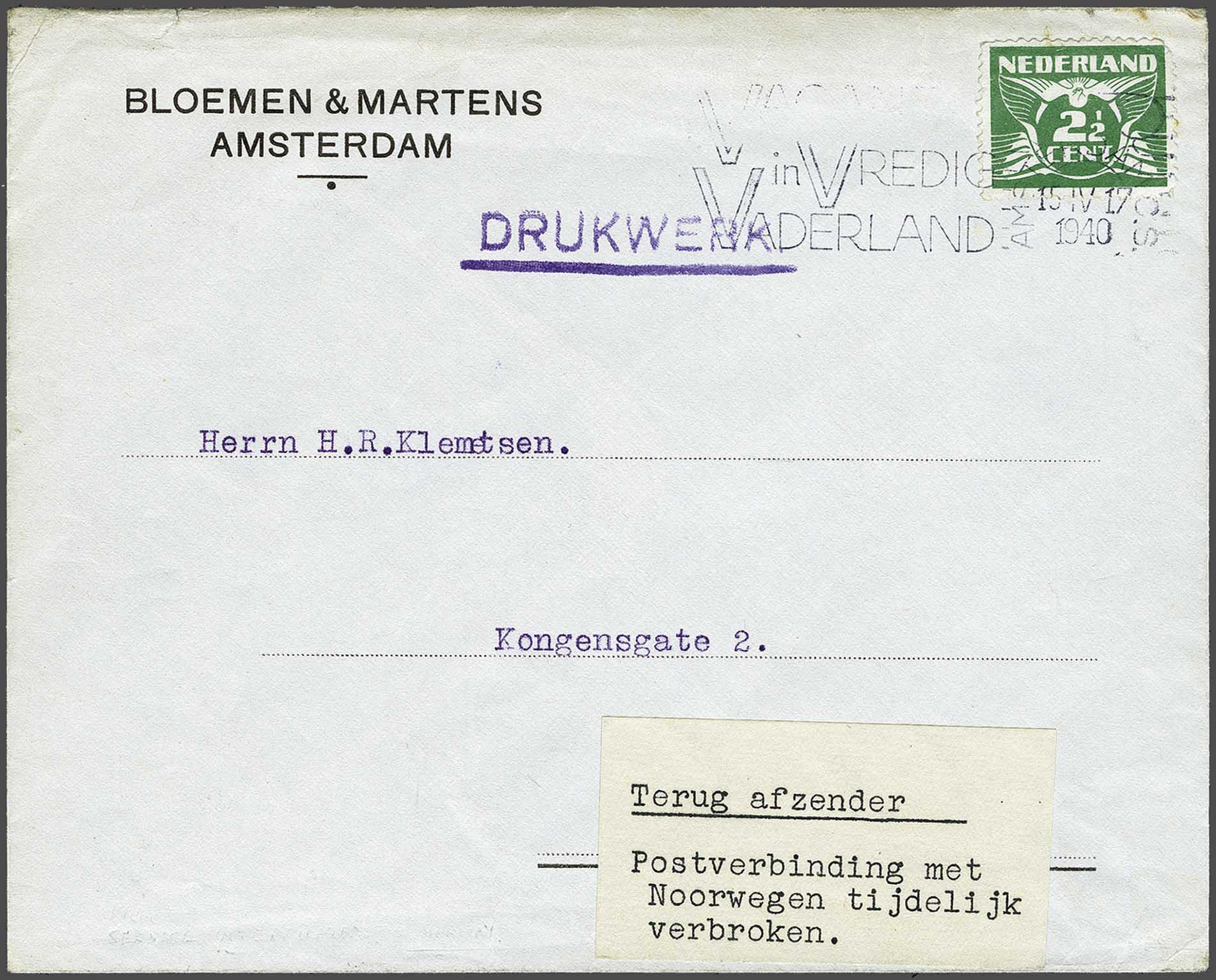 Lot 2806 - Netherlands and former colonies Netherlands -  Corinphila Veilingen Auction 244 -Netherlands and former colonies, WW2 Postal History, Bosnia, German and British colonies, Egypt. - Day 3
