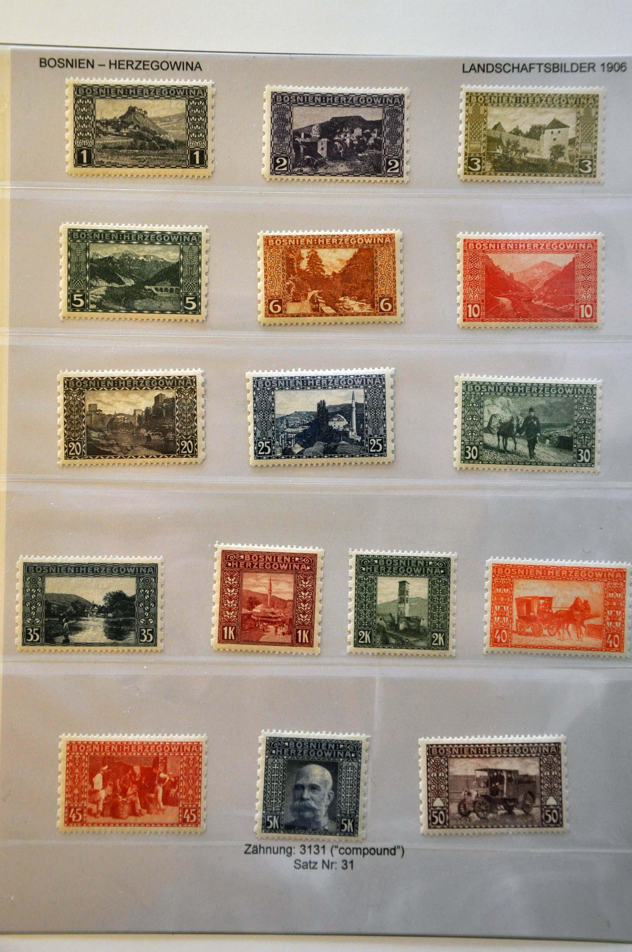 Lot 25 - Austria and former territories Bosnia and Herzegowina (Austrian) -  Corinphila Veilingen Auction 244 -Netherlands and former colonies, WW2 Postal History, Bosnia, German and British colonies, Egypt. - Day 1