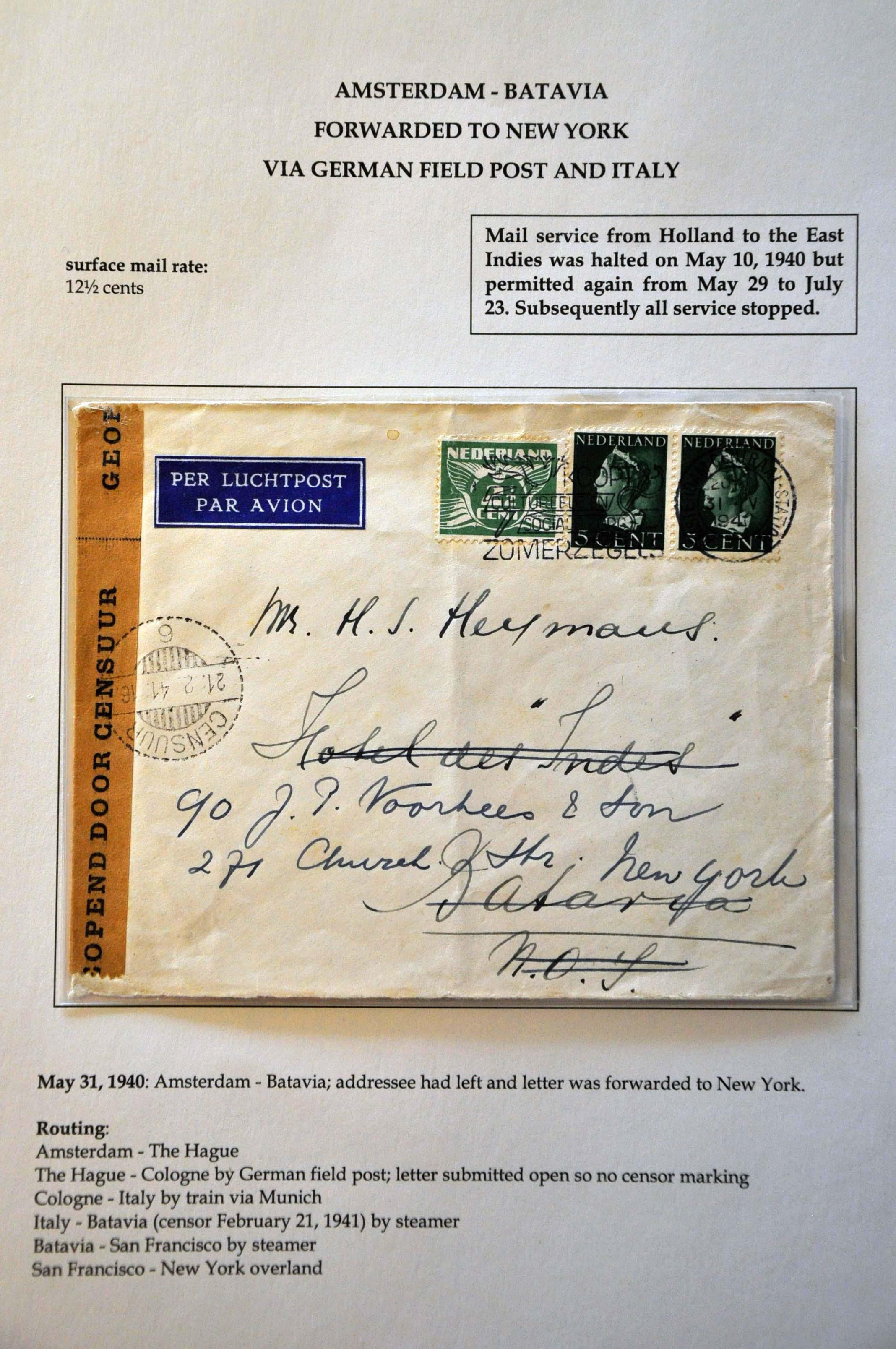 Lot 2814 - Netherlands and former colonies Netherlands -  Corinphila Veilingen Auction 244 -Netherlands and former colonies, WW2 Postal History, Bosnia, German and British colonies, Egypt. - Day 3