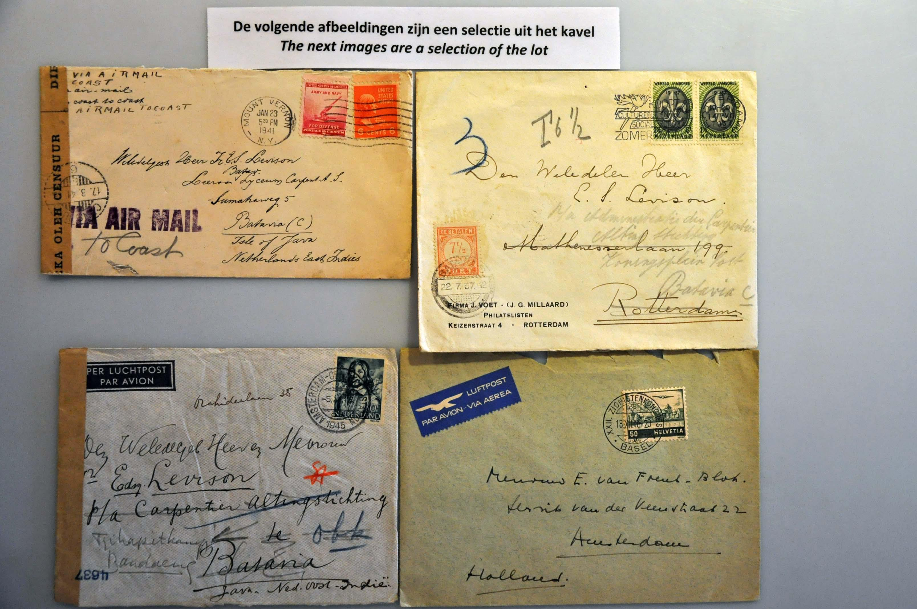 Lot 2366 - Netherlands and former colonies Netherlands Indies -  Corinphila Veilingen Auction 244 -Netherlands and former colonies, WW2 Postal History, Bosnia, German and British colonies, Egypt. - Day 2