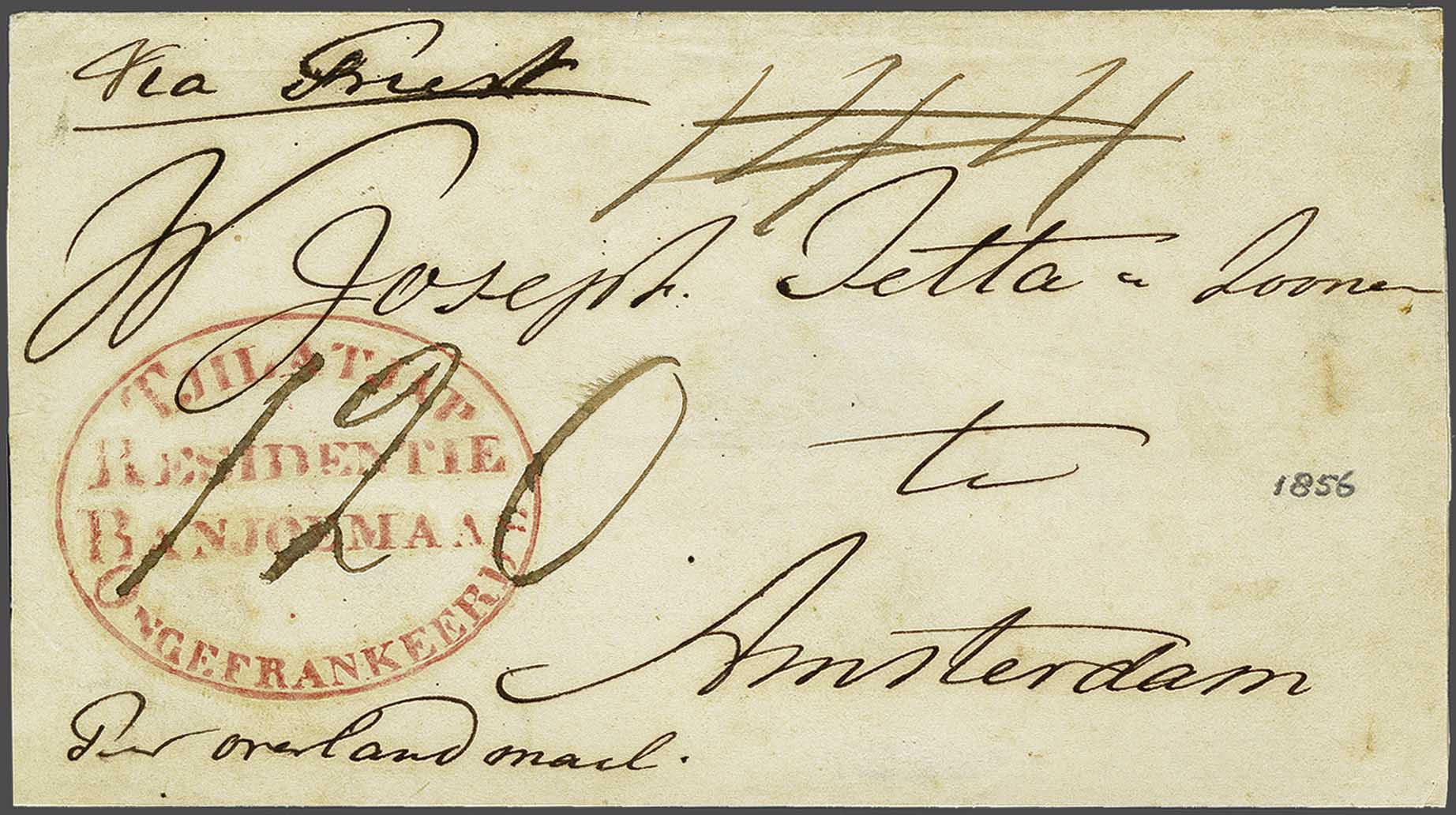 Lot 3740 - Netherlands and former colonies Netherlands Indies -  Corinphila Veilingen Auction 244 -Netherlands and former colonies, WW2 Postal History, Bosnia, German and British colonies, Egypt. - Day 3