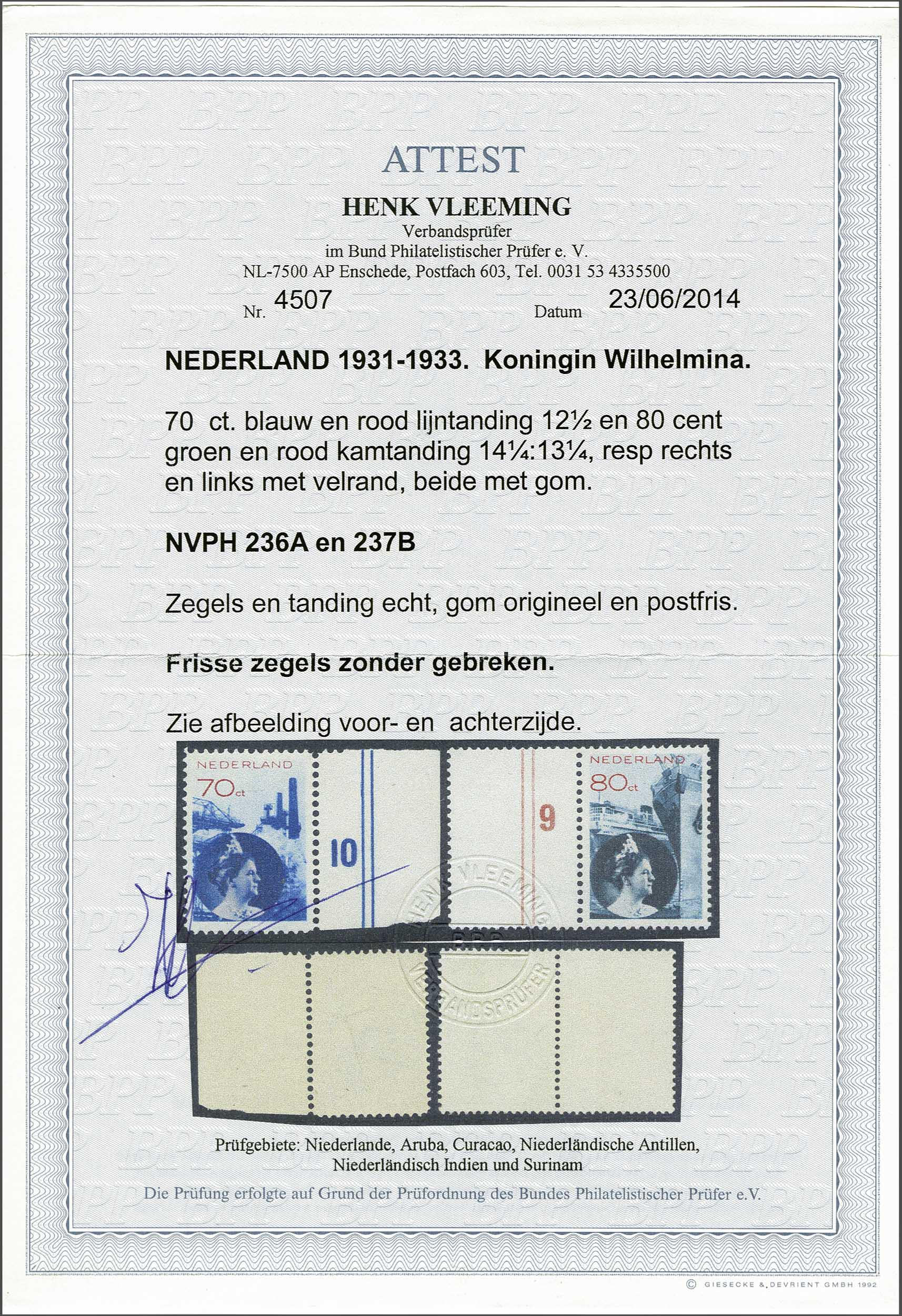 Lot 1873 - Netherlands and former colonies Netherlands -  Corinphila Veilingen Auction 245-246 Day 3 - Netherlands and former colonies - Single lots, Collections and lots, Boxes and literature