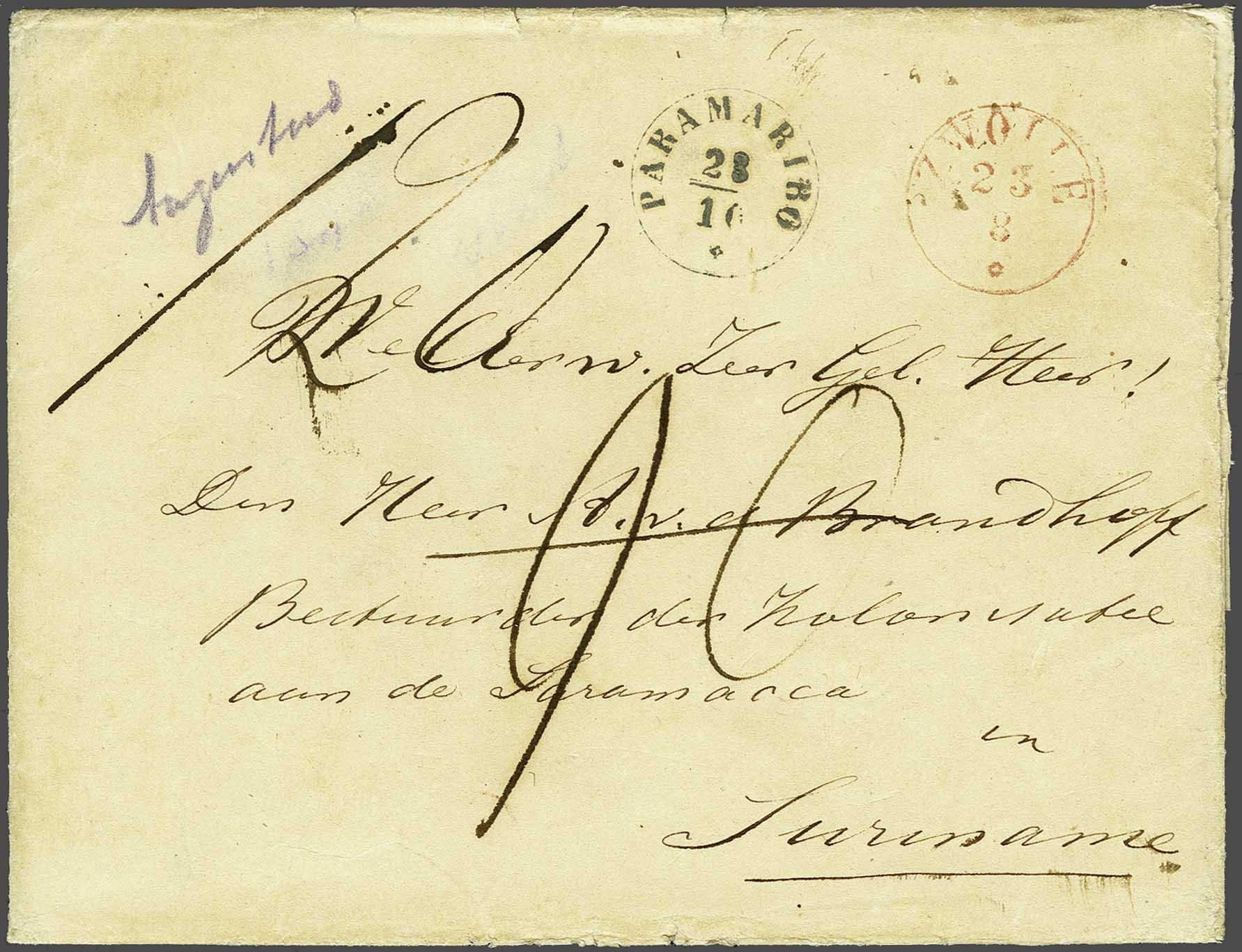 Lot 2168 - Netherlands and former colonies surinam -  Corinphila Veilingen Auction 245-246 Day 3 - Netherlands and former colonies - Single lots, Collections and lots, Boxes and literature