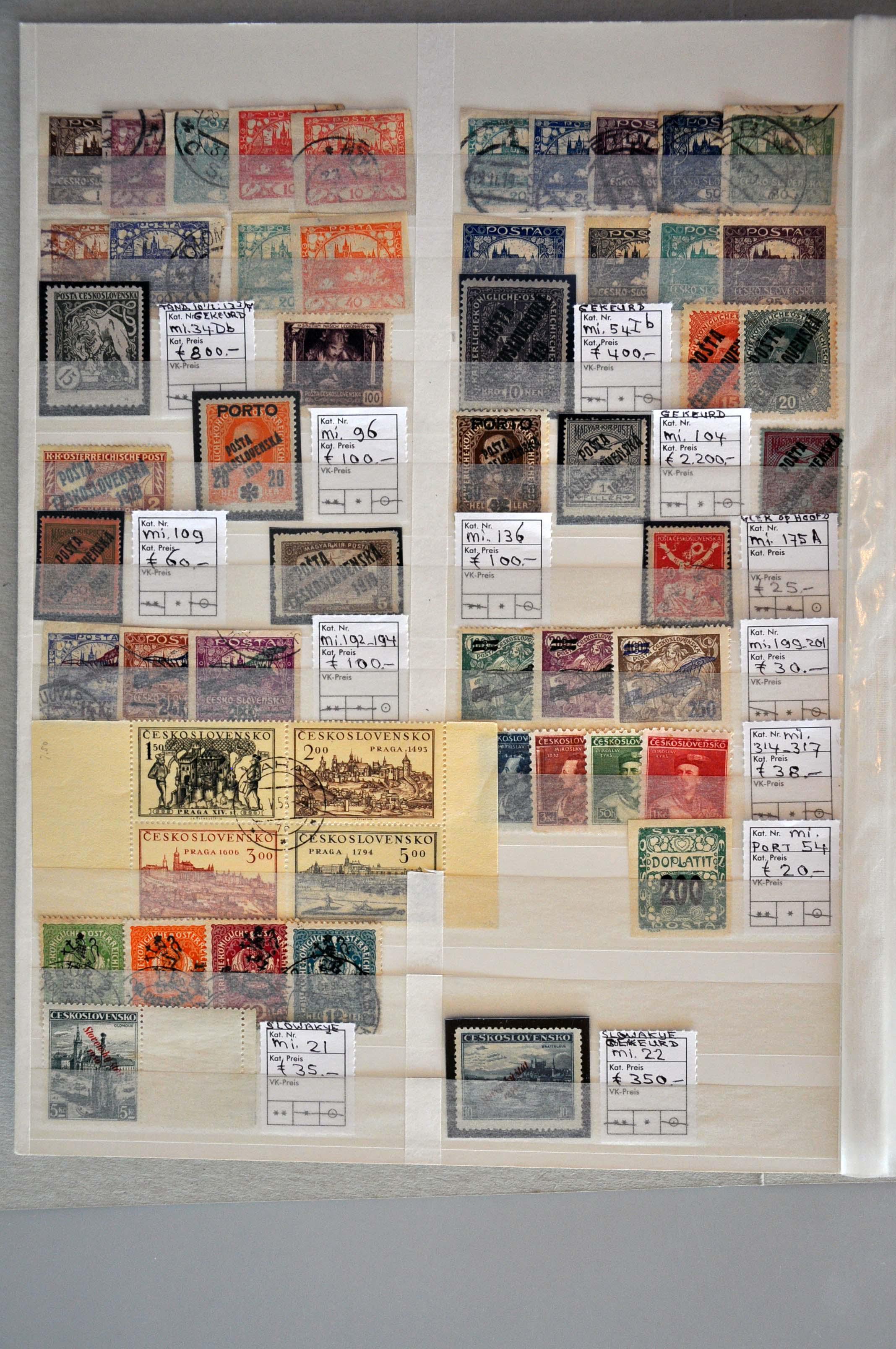 Lot 599 - European Countries Czechoslovakia -  Corinphila Veilingen Auction 245-246 Day 2 - Foreign countries - Collections and lots, Foreign countries - Boxes and literature